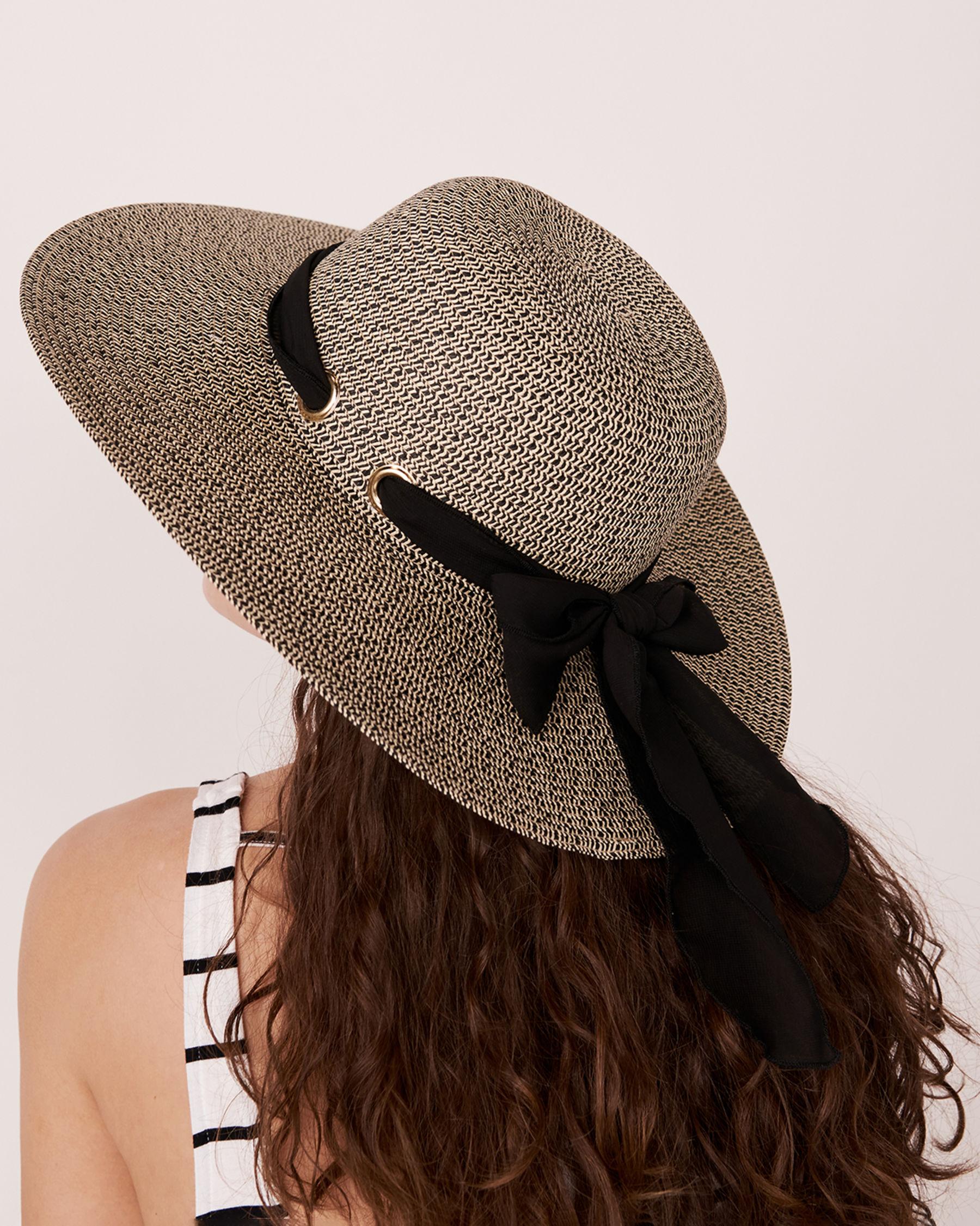 LA VIE EN ROSE AQUA Bow Hat Nude 80500006 - View1