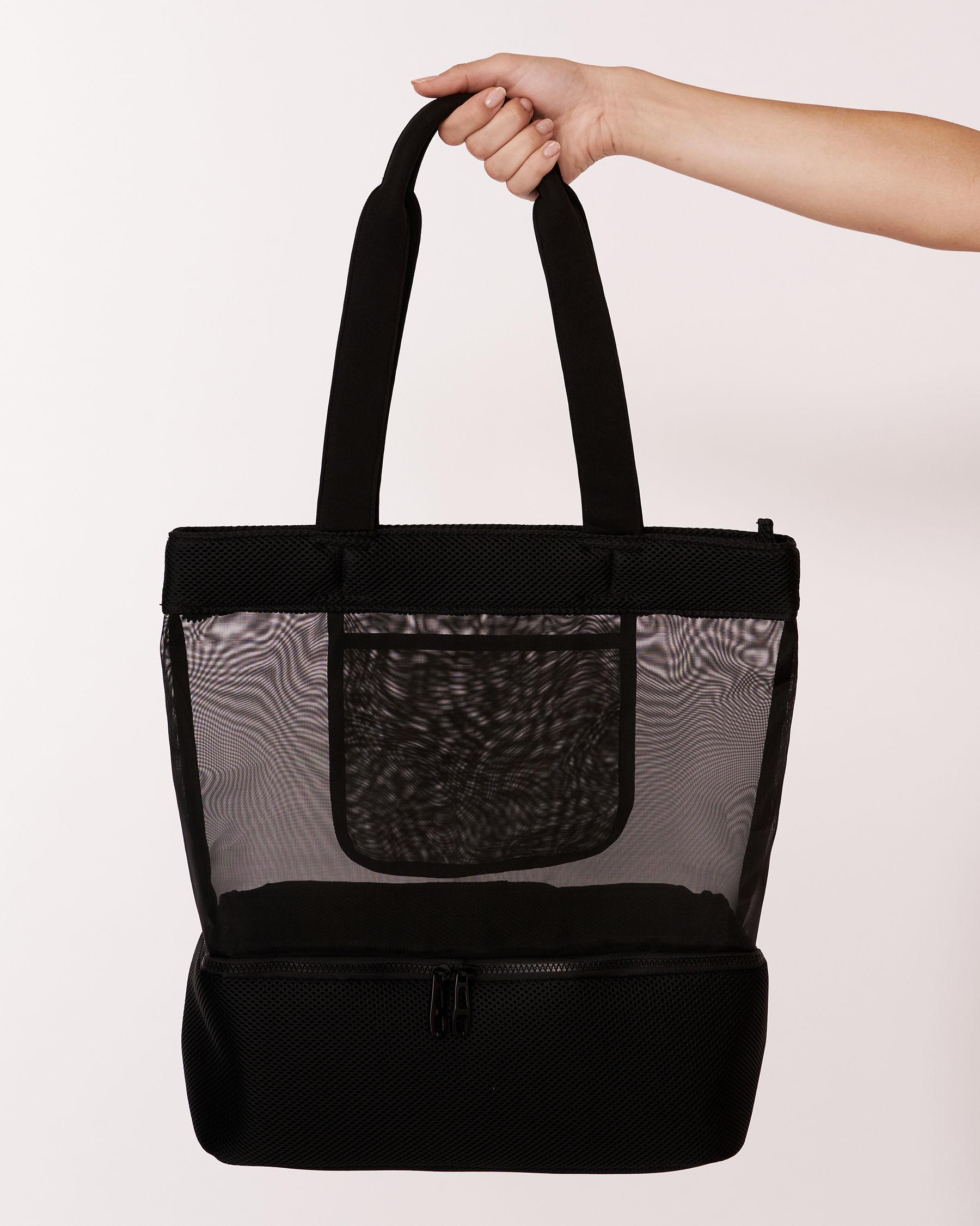 LA VIE EN ROSE AQUA Black Zipper Bag Black 671-661-0-11 - View2