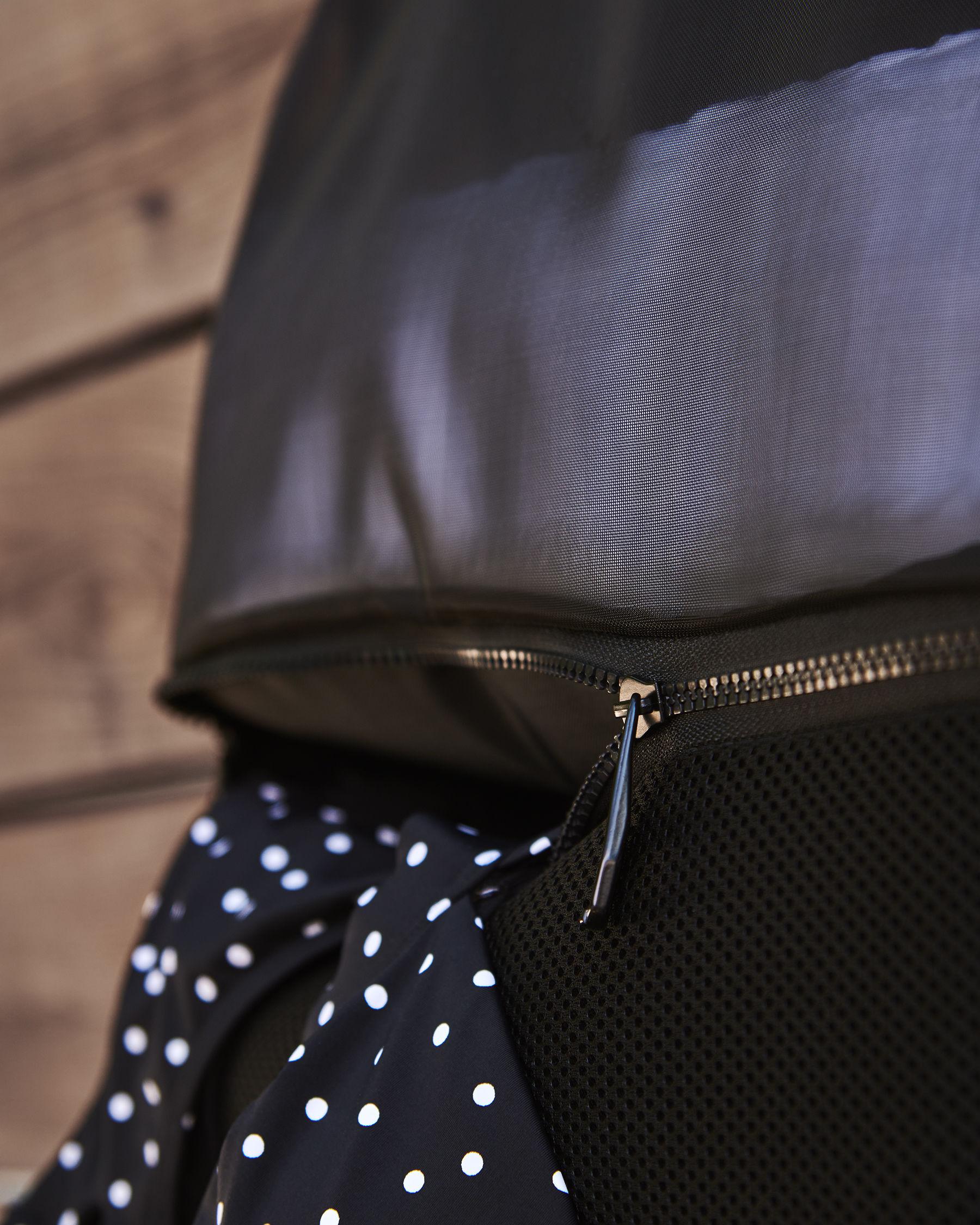 LA VIE EN ROSE AQUA Black Zipper Bag Black 671-661-0-11 - View4