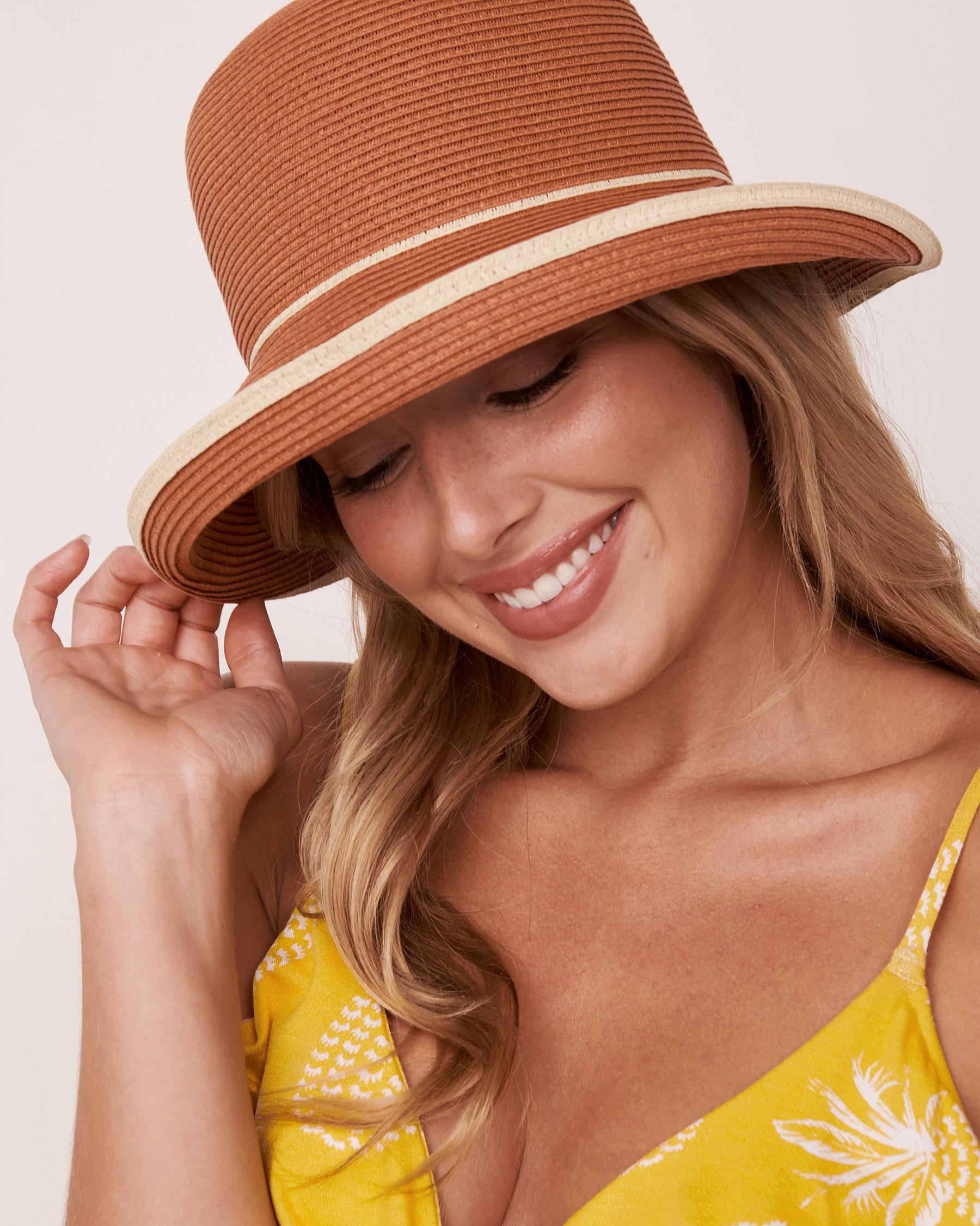 LA VIE EN ROSE AQUA Contrasting Cloche Hat Dark neutral 80500033 - View3