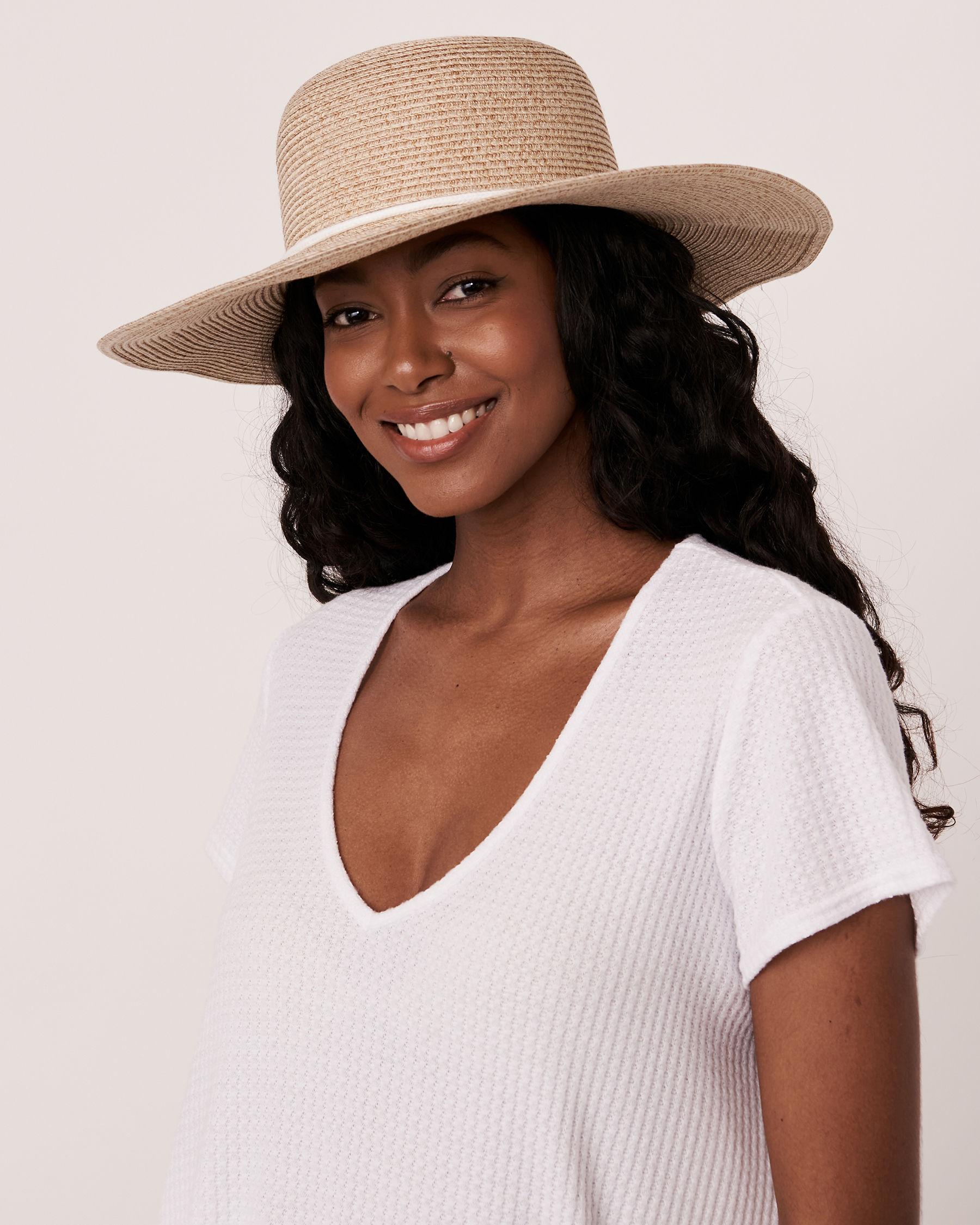 LA VIE EN ROSE AQUA Hat with String Neutral 80500029 - View1