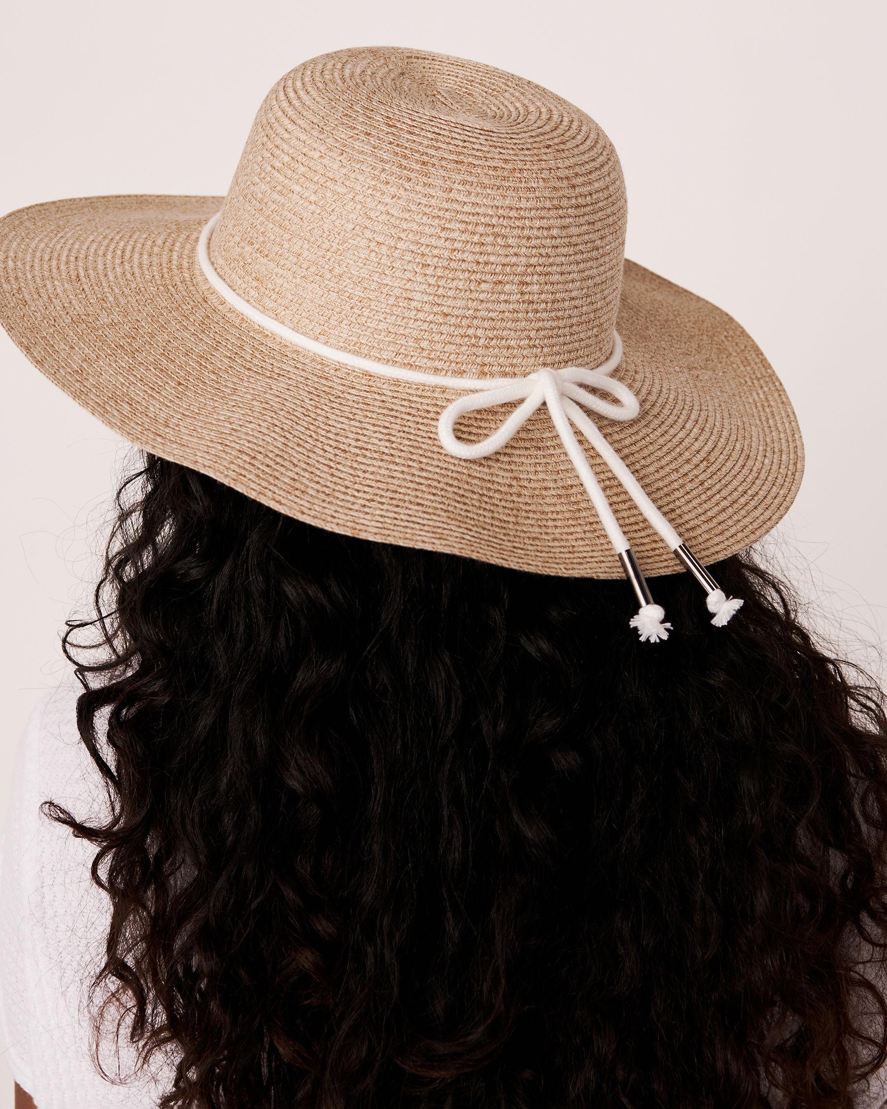 LA VIE EN ROSE AQUA Hat with String Neutral 80500029 - View2