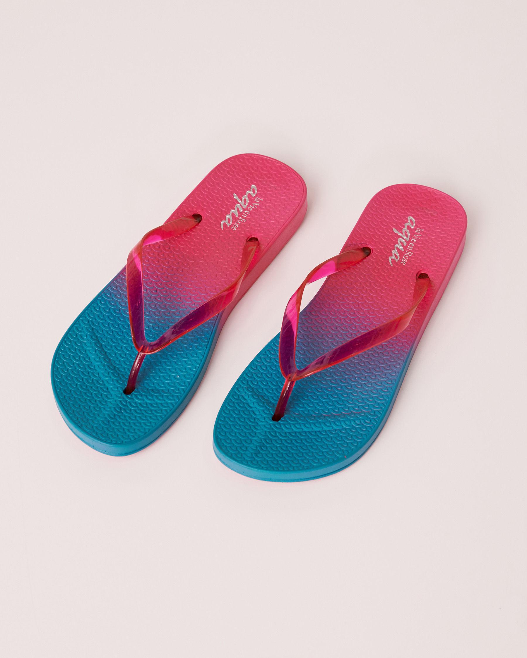 LA VIE EN ROSE AQUA Neon Sandal Blue 80500013 - View1