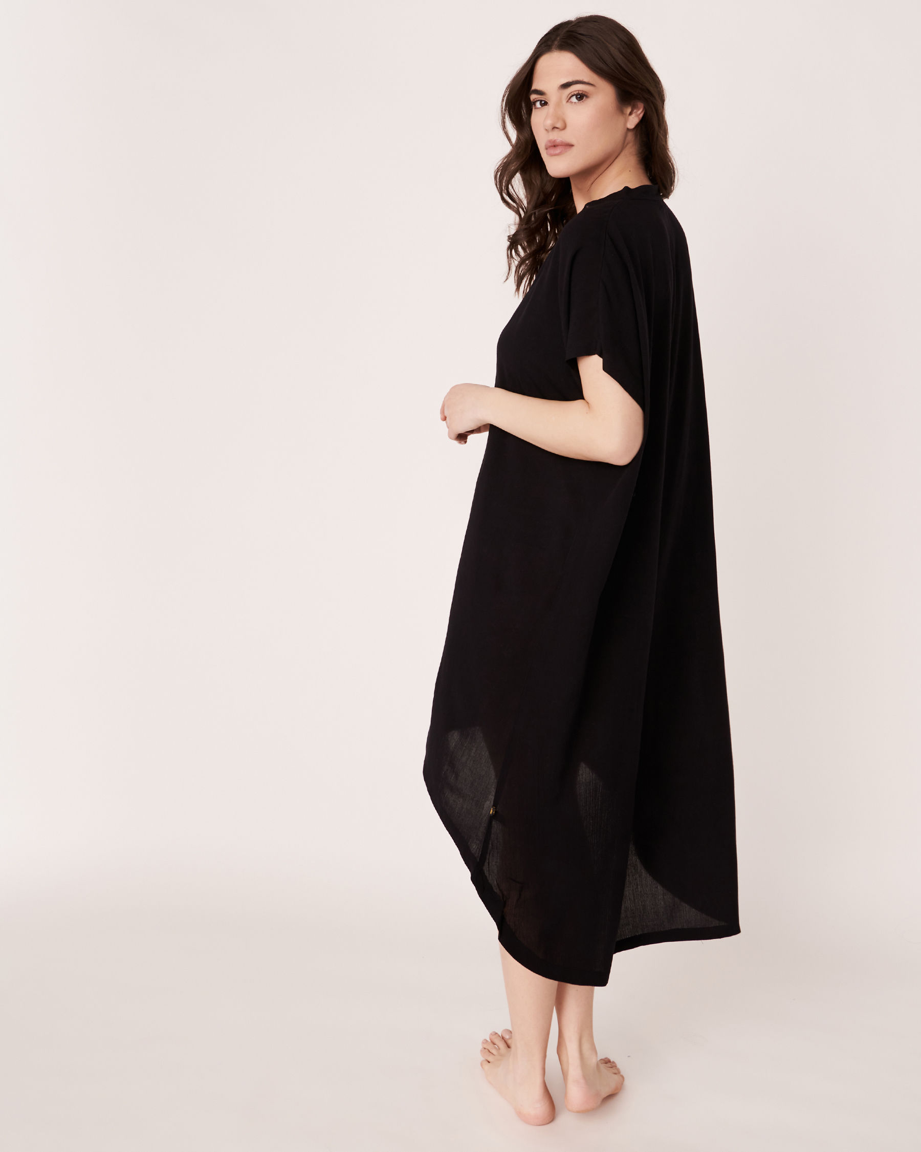 LA VIE EN ROSE AQUA High and Low Dress Black 80300012 - View2
