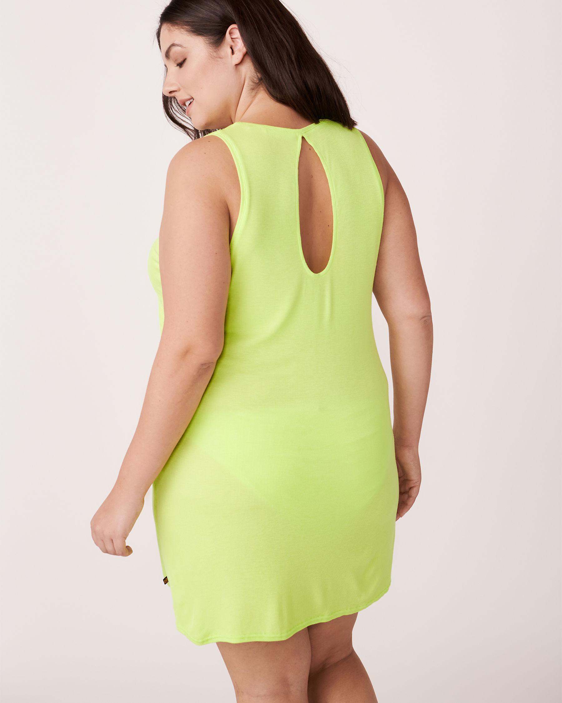 LA VIE EN ROSE AQUA Knotted Sleeveless Dress Lime 80400002 - View2