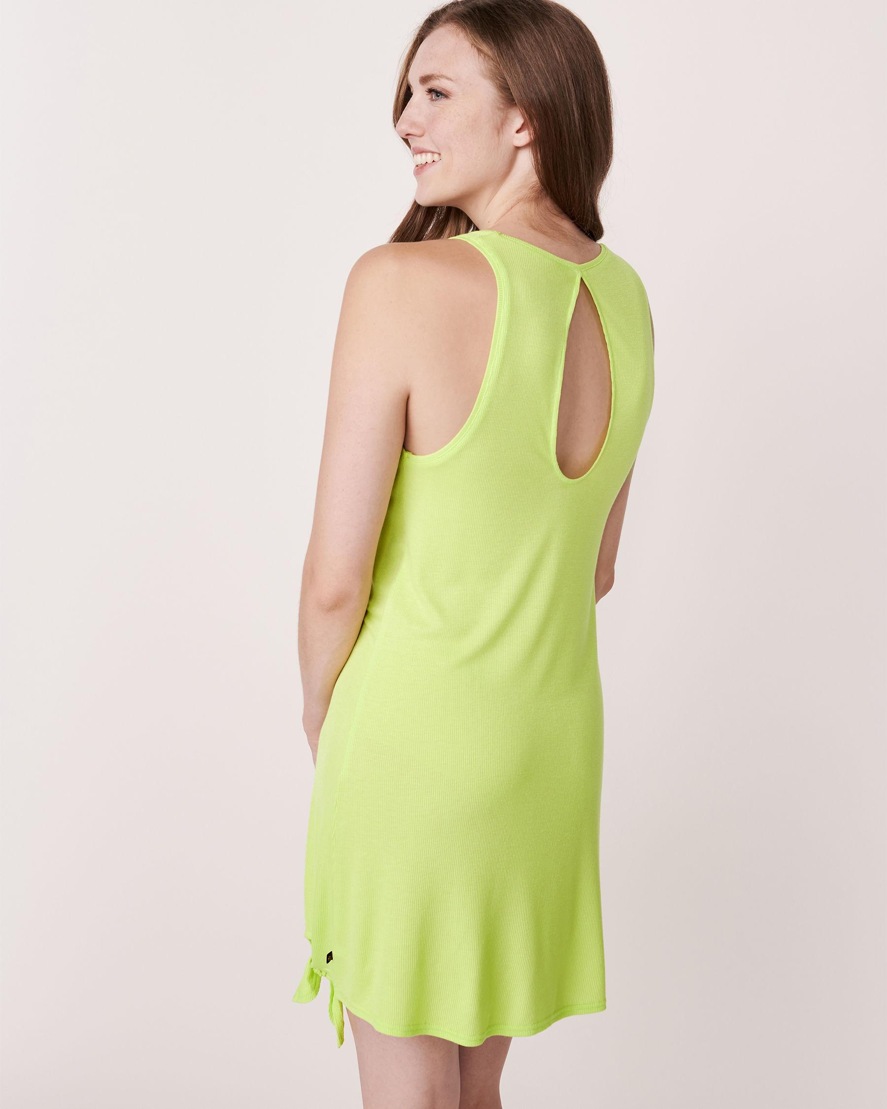 LA VIE EN ROSE AQUA Knotted Sleeveless Dress Lime 80400002 - View4