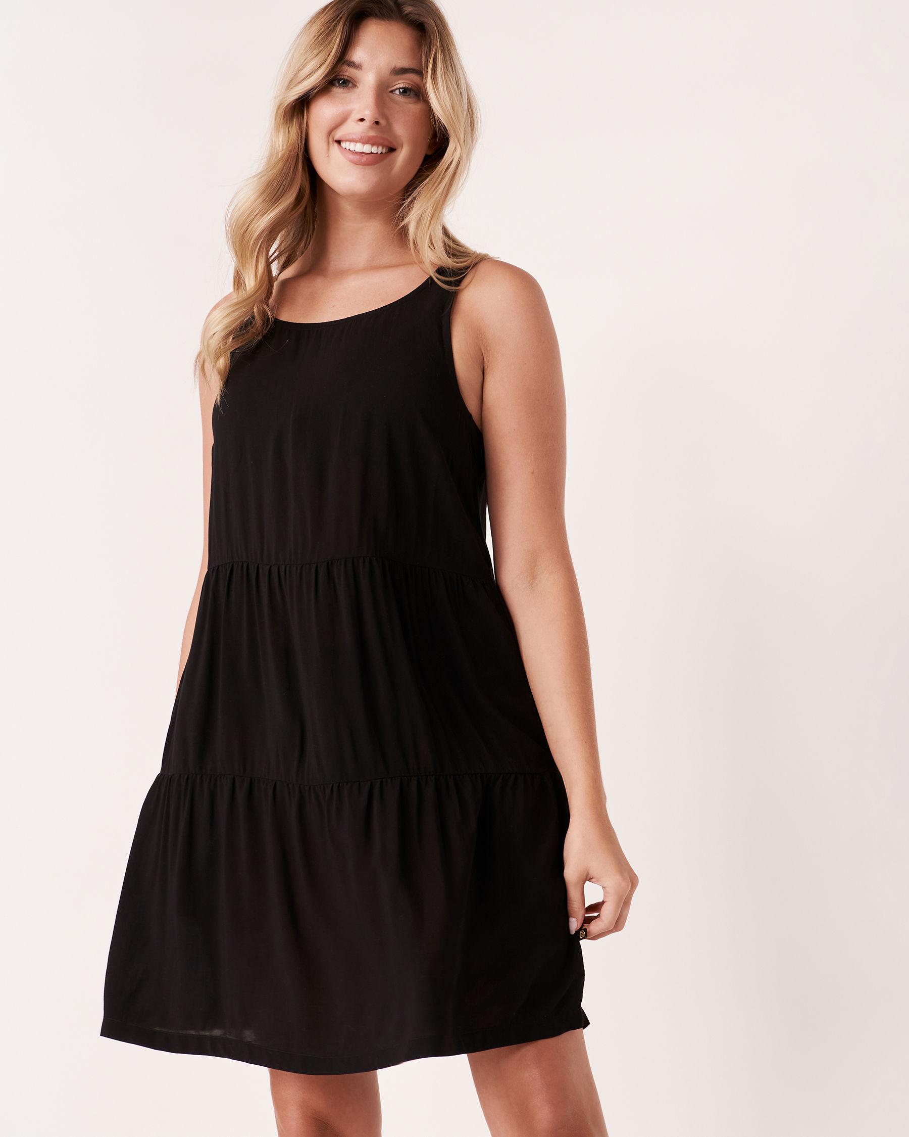 LA VIE EN ROSE AQUA Short Layered Dress Black 80300015 - View1