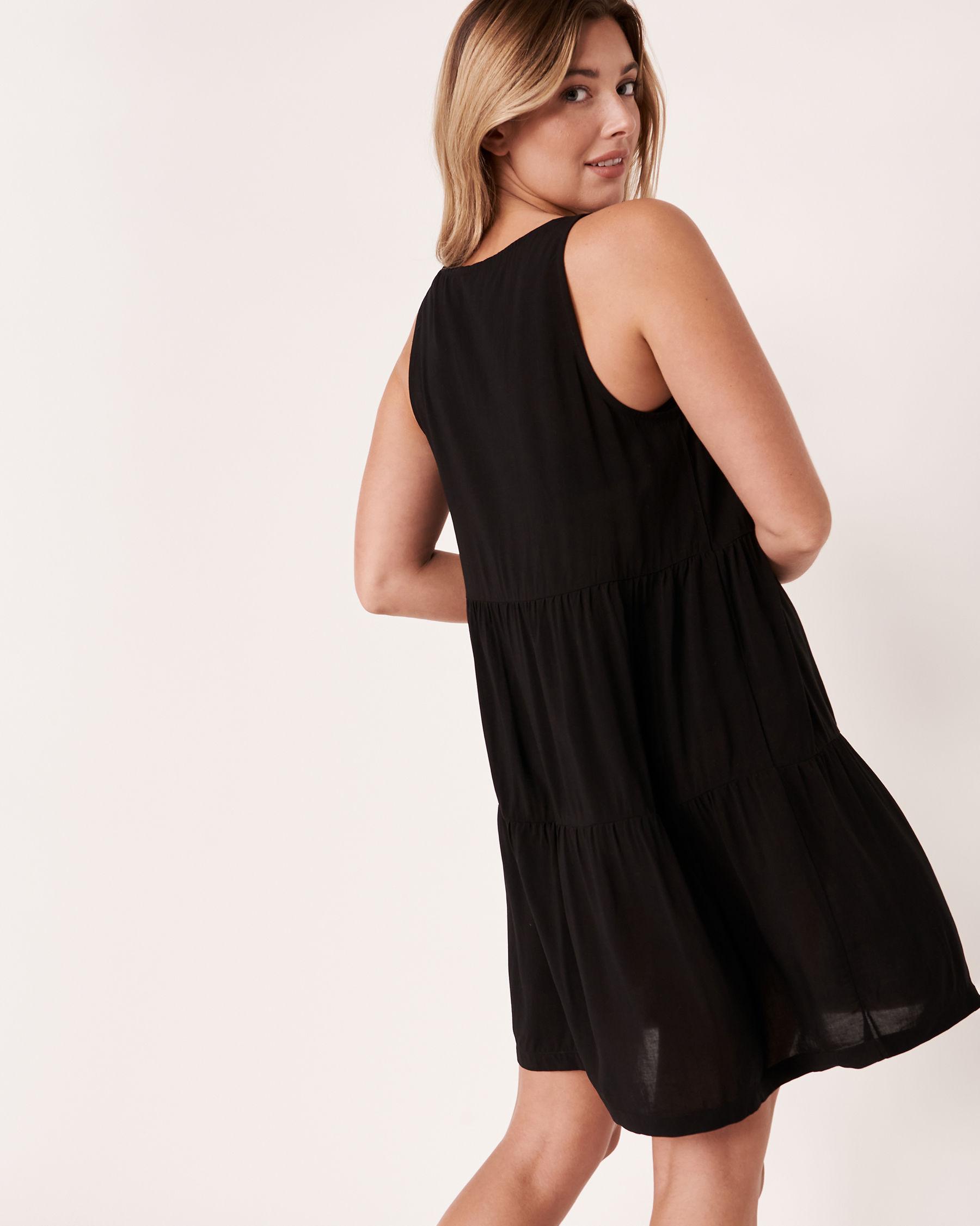 LA VIE EN ROSE AQUA Short Layered Dress Black 80300015 - View2