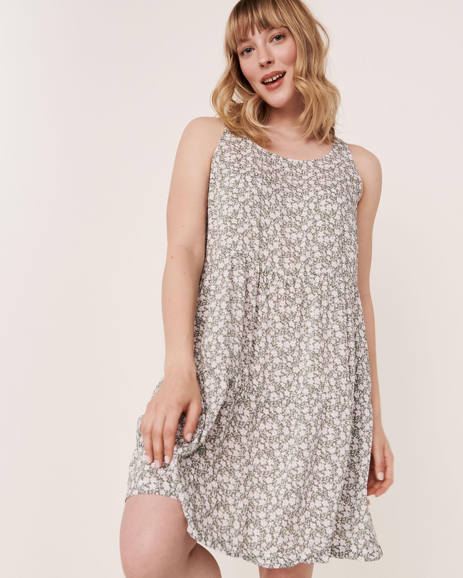 LA VIE EN ROSE AQUA Short Layered Dress Green floral 80300015 - View1