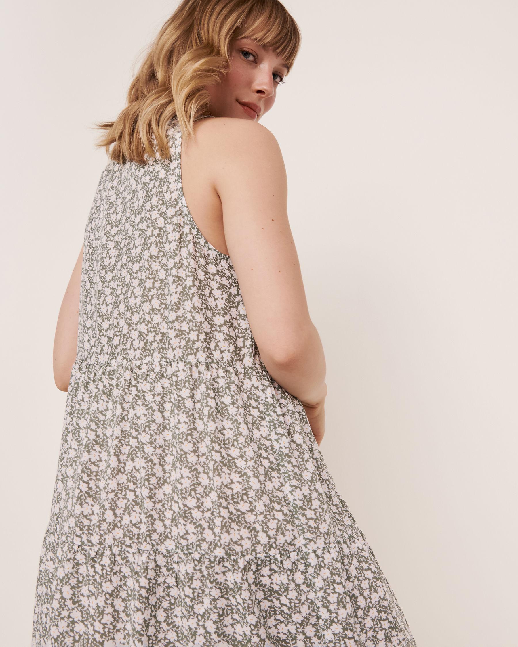 LA VIE EN ROSE AQUA Short Layered Dress Green floral 80300015 - View2