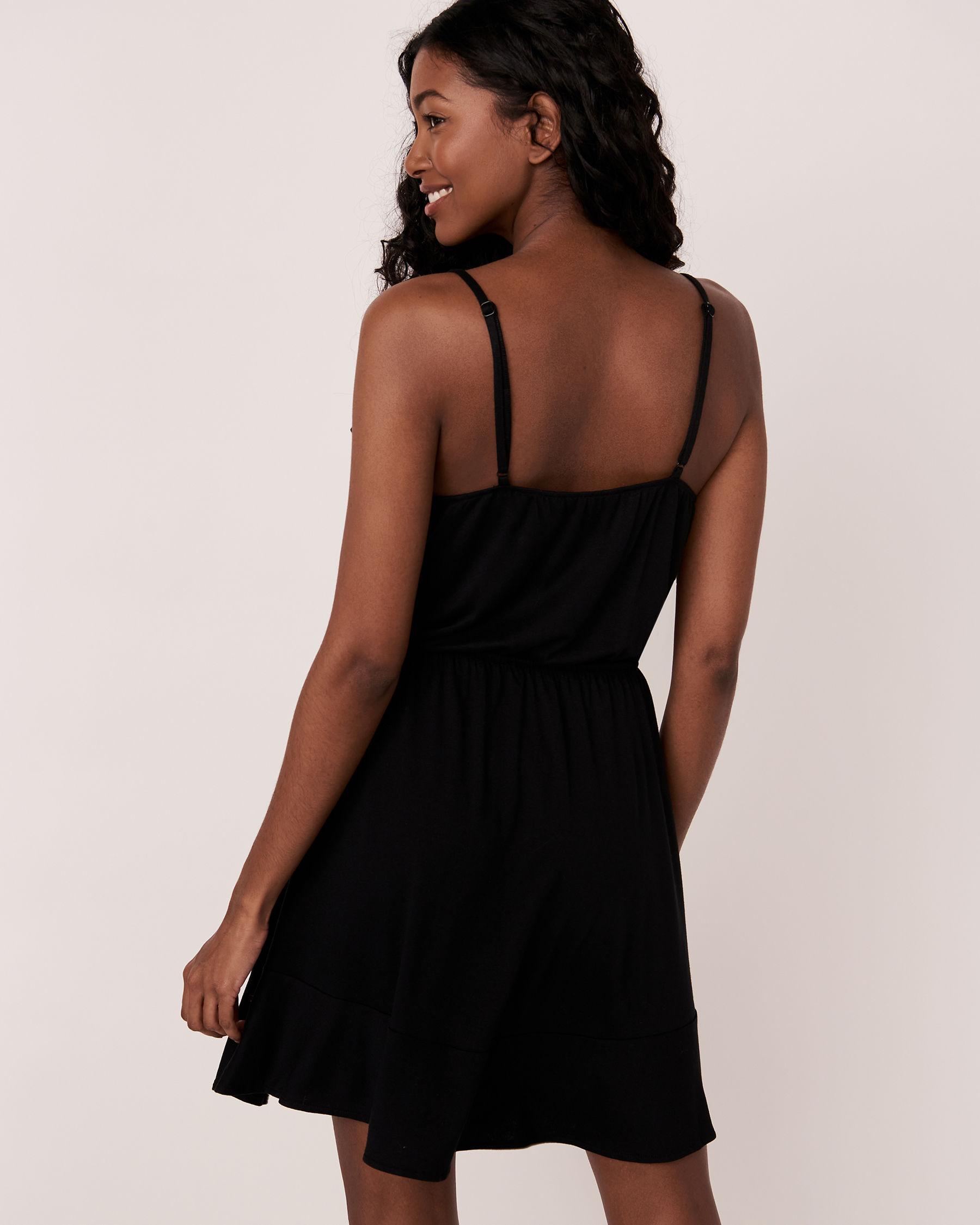 LA VIE EN ROSE AQUA Short Ruffle Dress Black 80300016 - View2