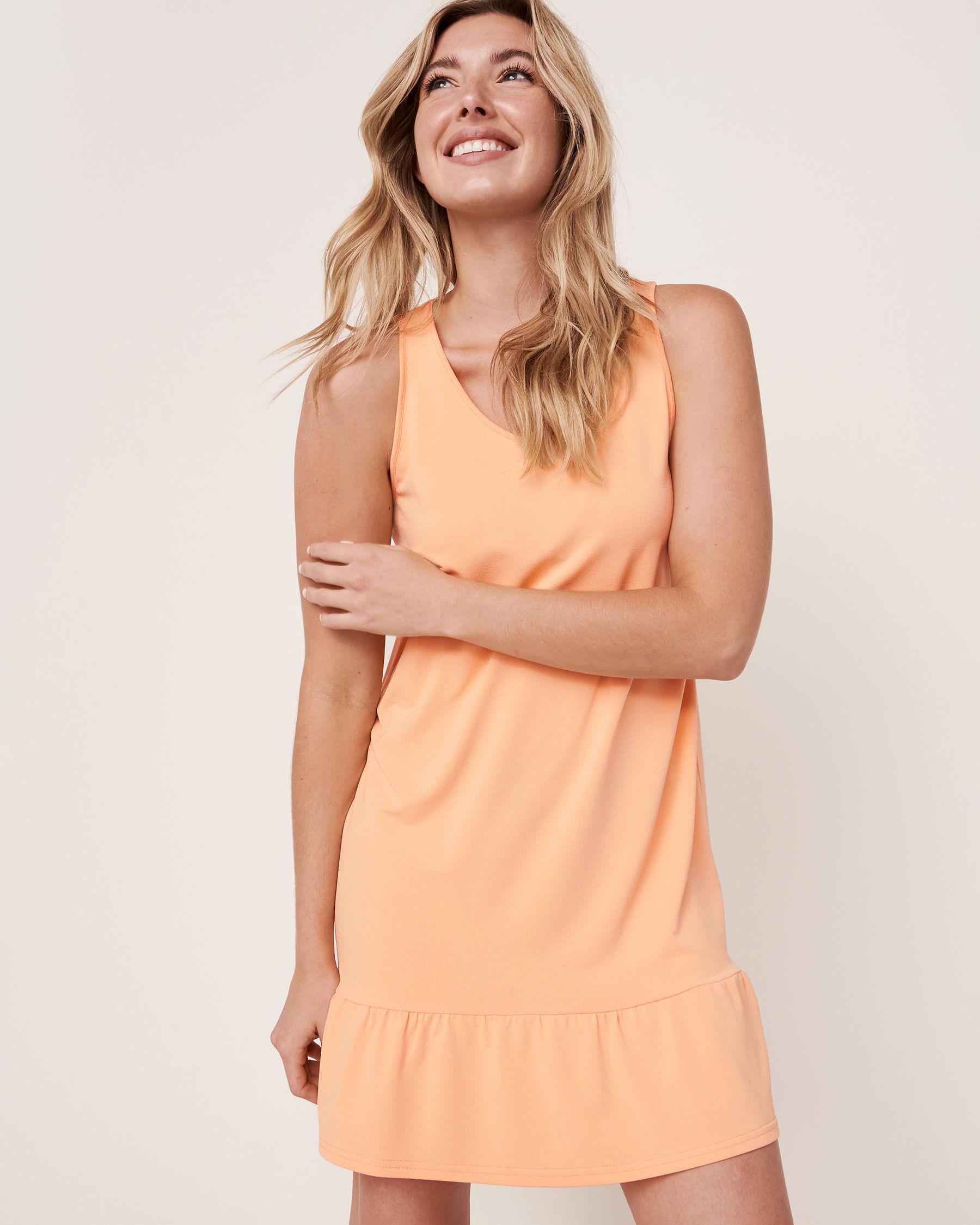 LA VIE EN ROSE AQUA Sleeveless Ruffle Dress Cantaloup 80300019 - View1