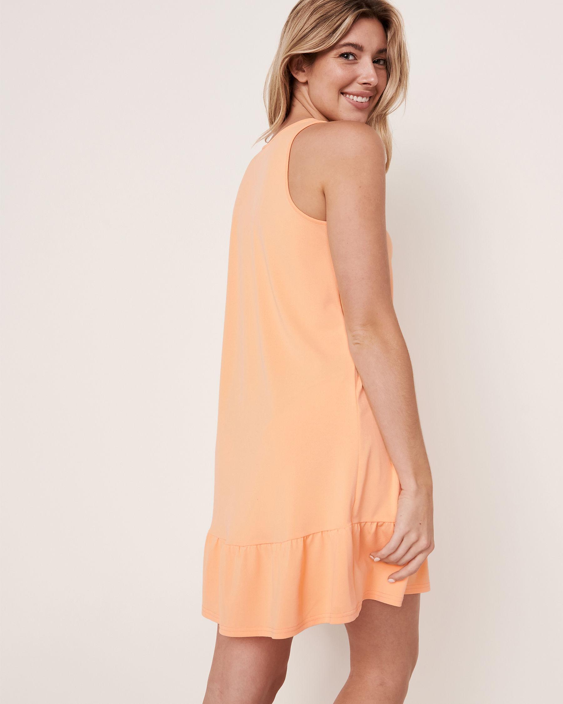 LA VIE EN ROSE AQUA Sleeveless Ruffle Dress Cantaloup 80300019 - View2