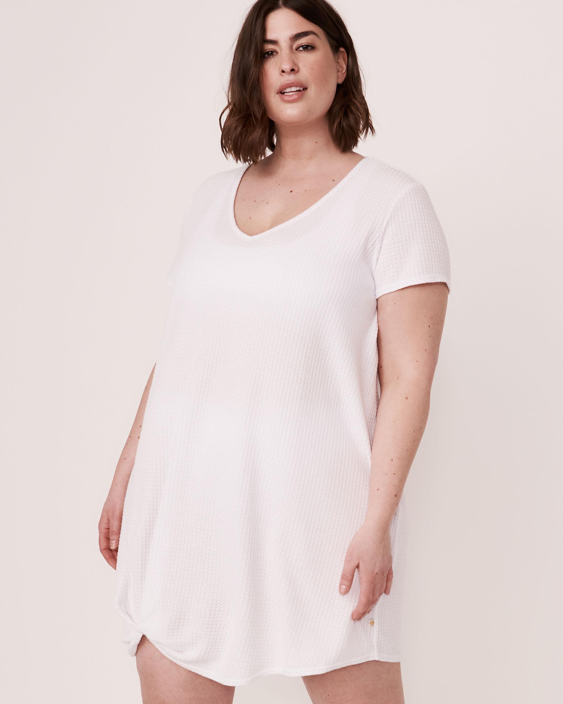 LA VIE EN ROSE AQUA Twisted Short Dress White 80300017 - View1