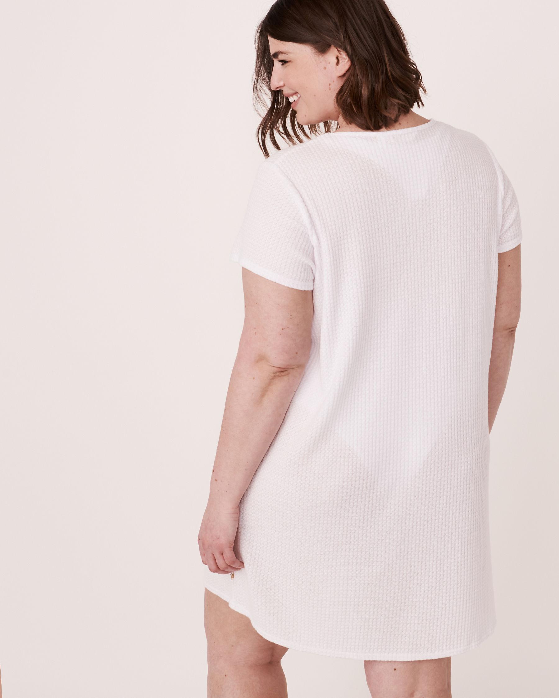 LA VIE EN ROSE AQUA Twisted Short Dress White 80300017 - View2
