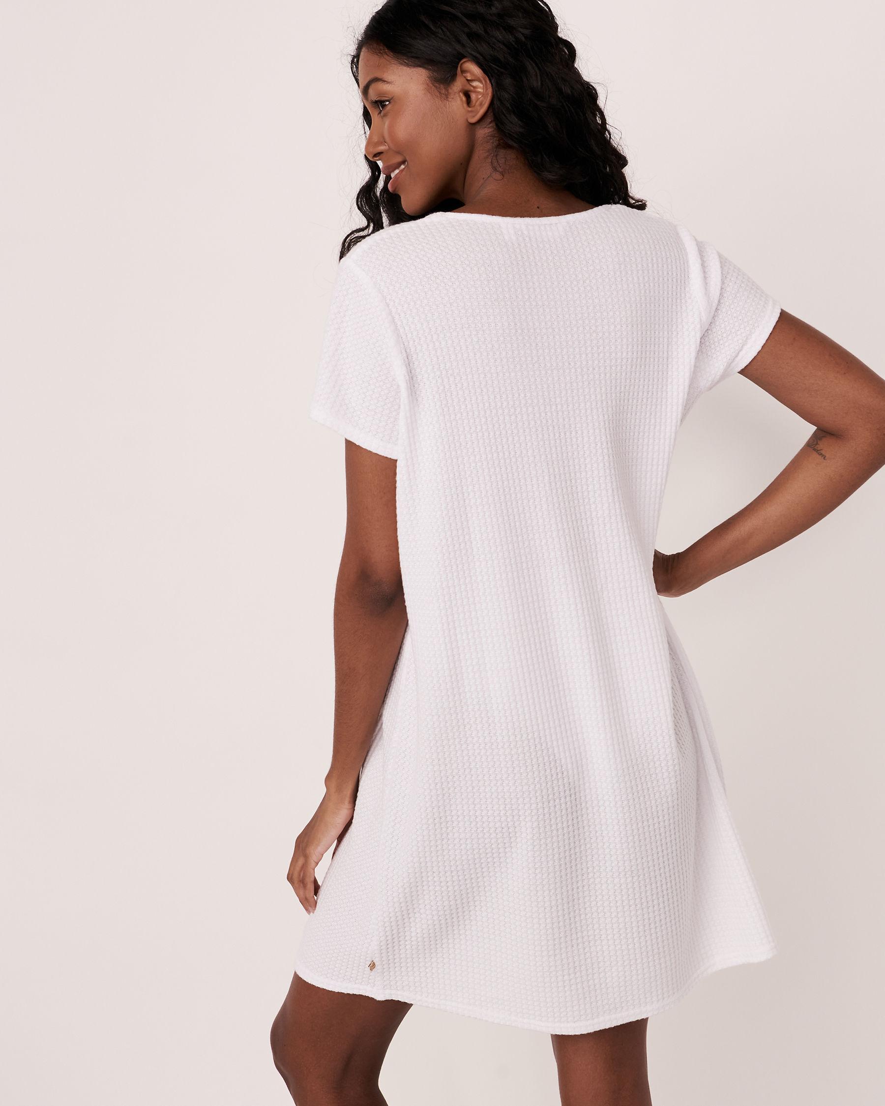 LA VIE EN ROSE AQUA Twisted Short Dress White 80300017 - View4