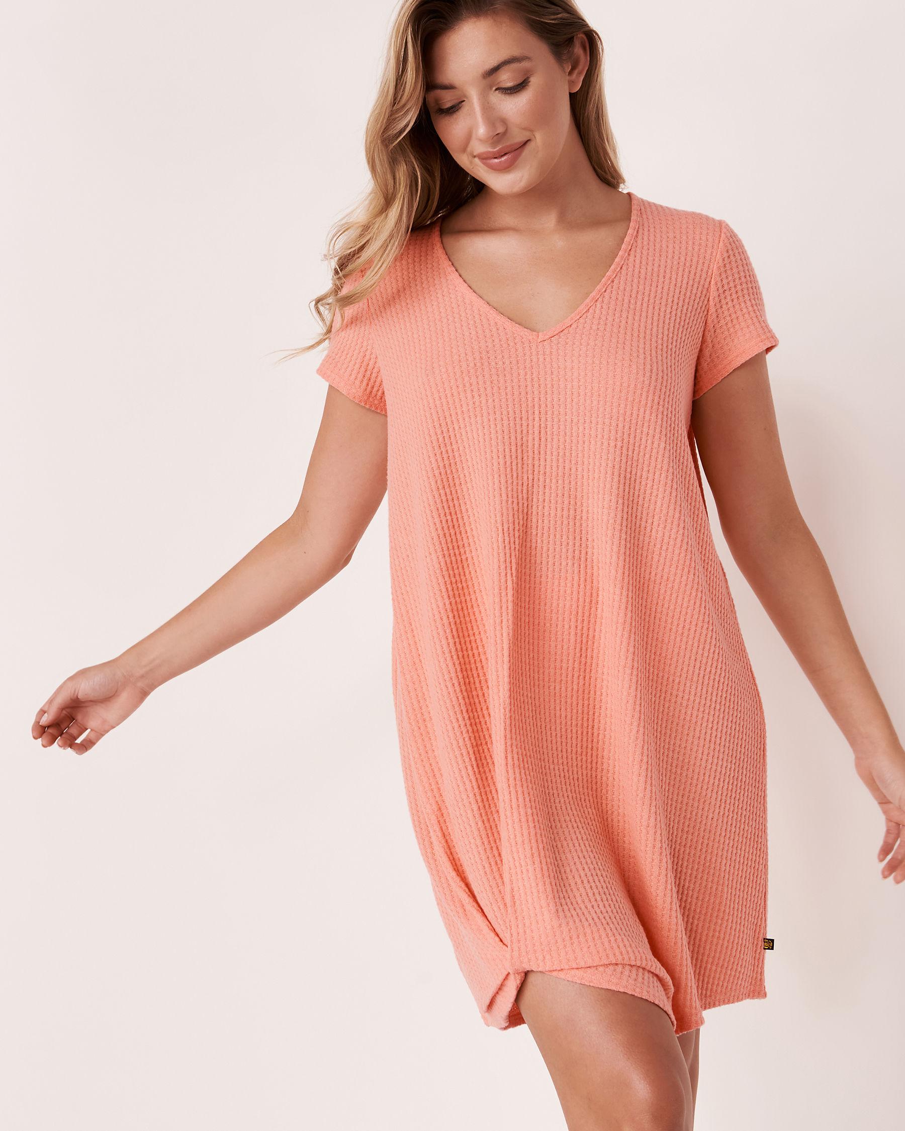 LA VIE EN ROSE AQUA Twisted Short Dress Coral 80300017 - View1