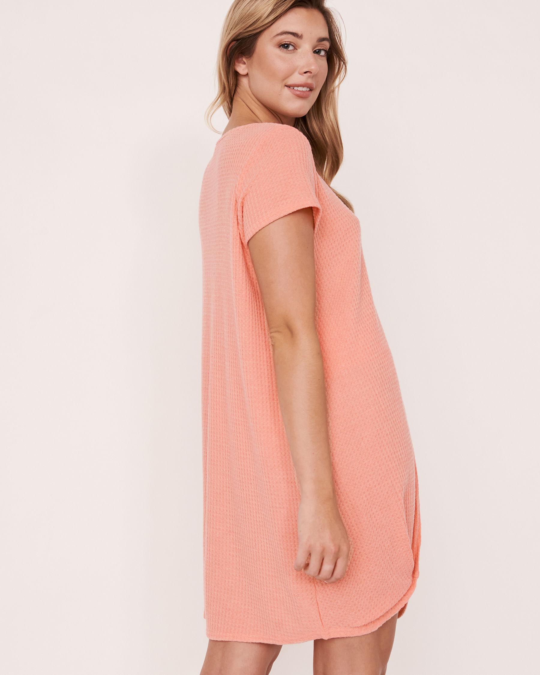 LA VIE EN ROSE AQUA Twisted Short Dress Coral 80300017 - View2