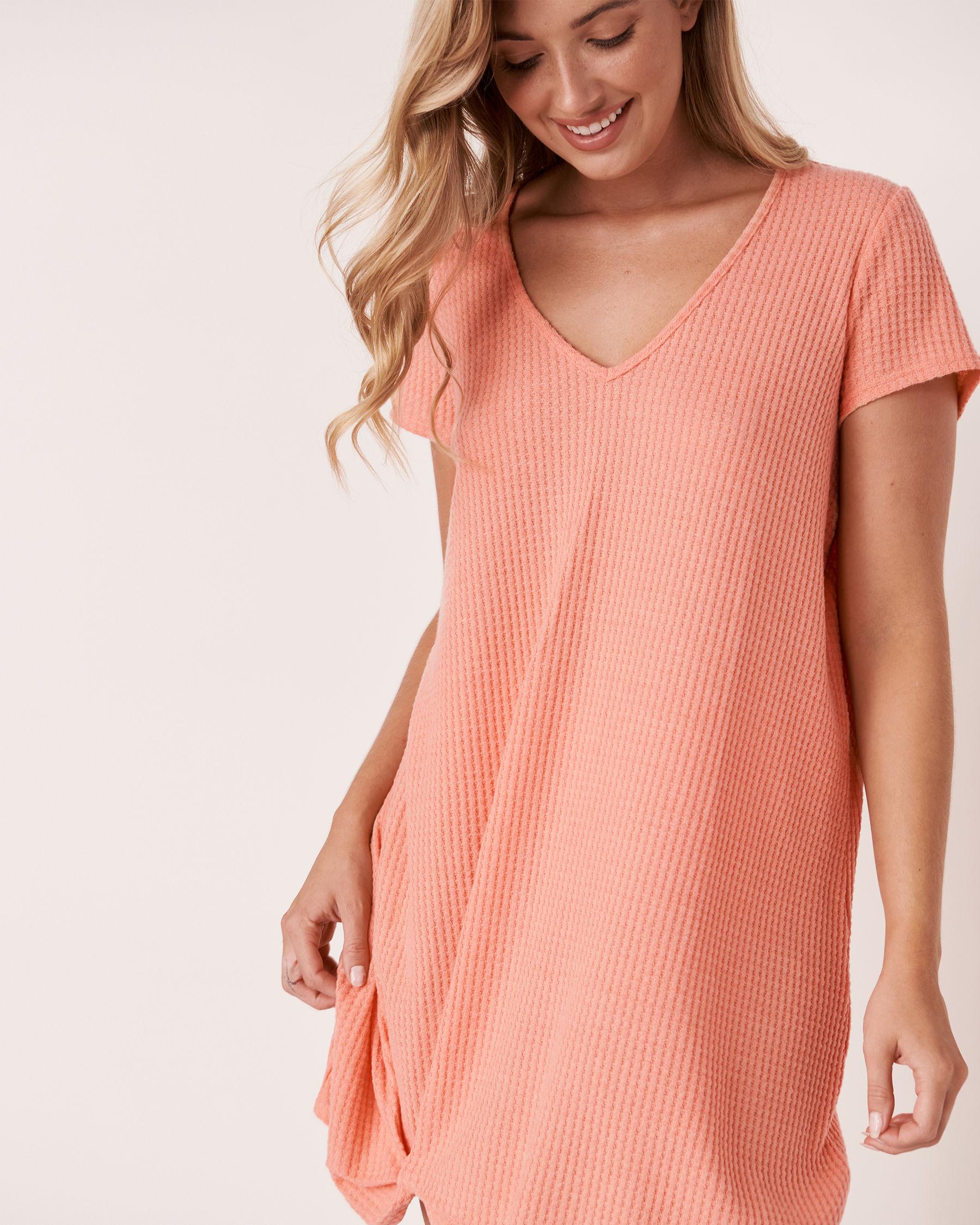LA VIE EN ROSE AQUA Twisted Short Dress Coral 80300017 - View3