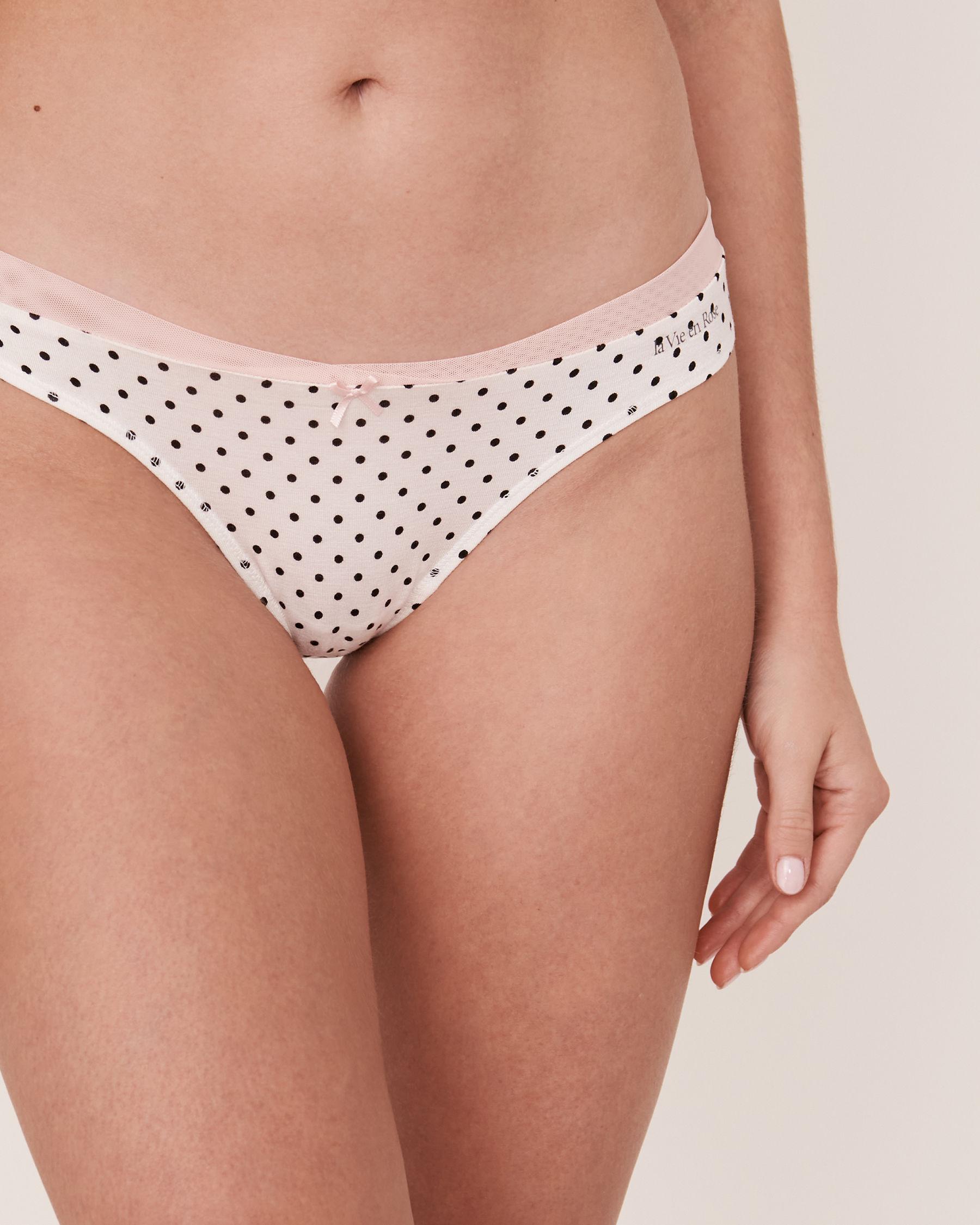 LA VIE EN ROSE Bikini Panty Black dot 20100050 - View1