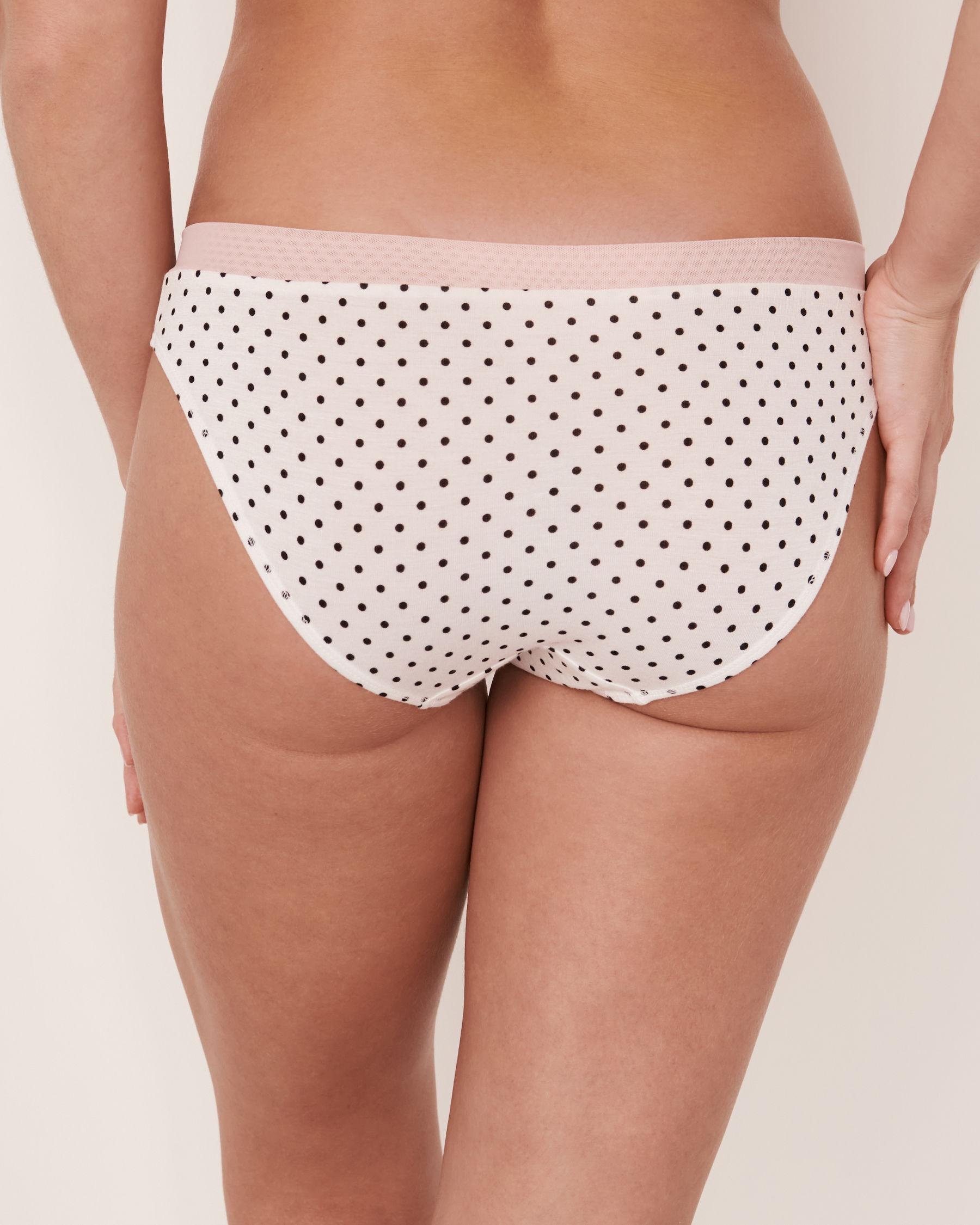 LA VIE EN ROSE Bikini Panty Black dot 20100050 - View2