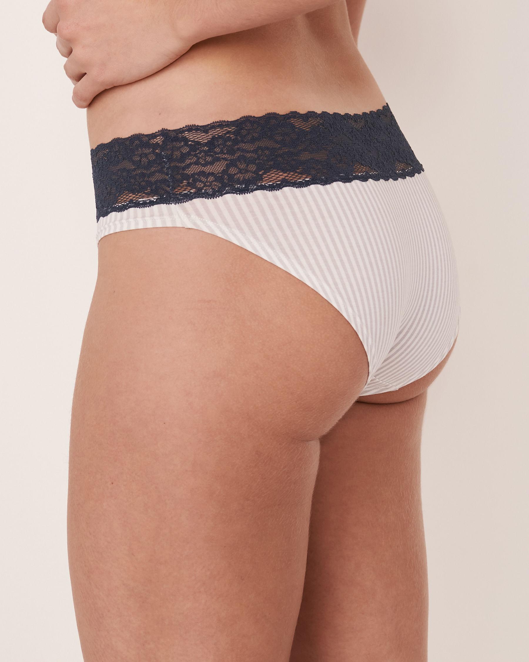 LA VIE EN ROSE Bikini Panty Vertical stripes 20100056 - View2
