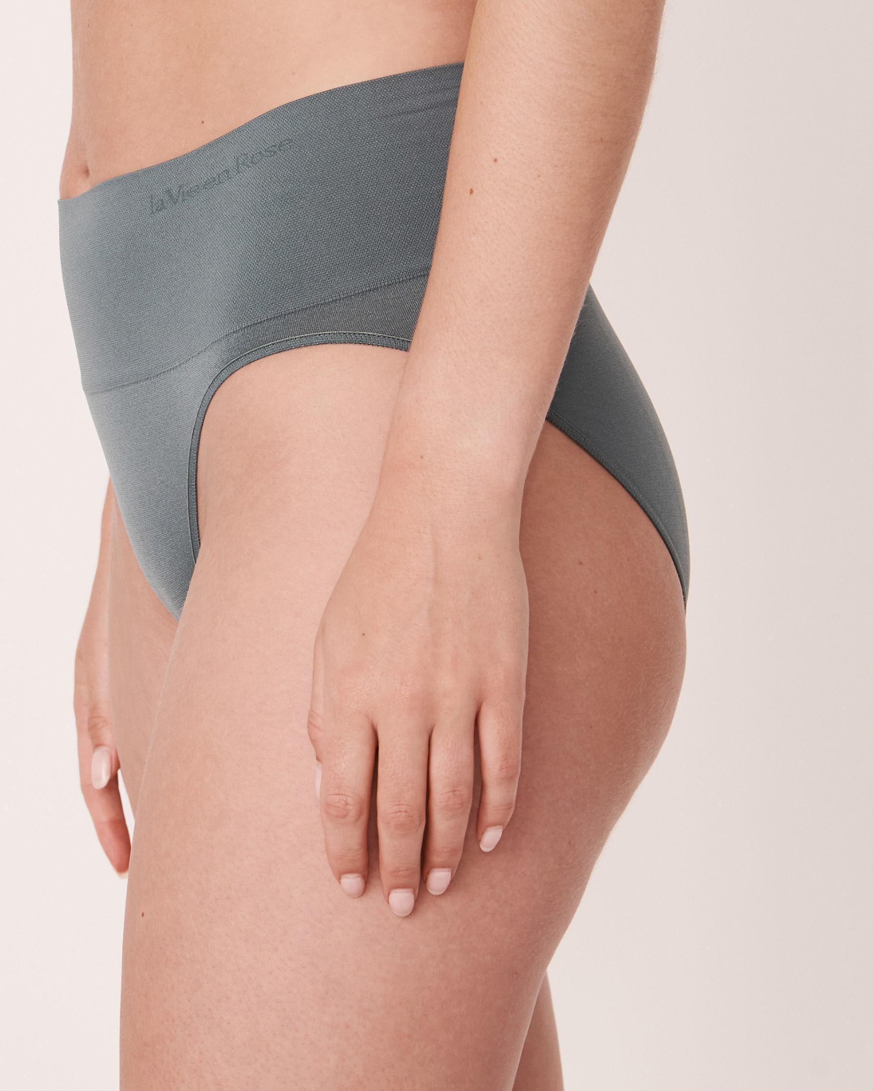 LA VIE EN ROSE Seamless High Waist Bikini Panty Green 20200038 - View1