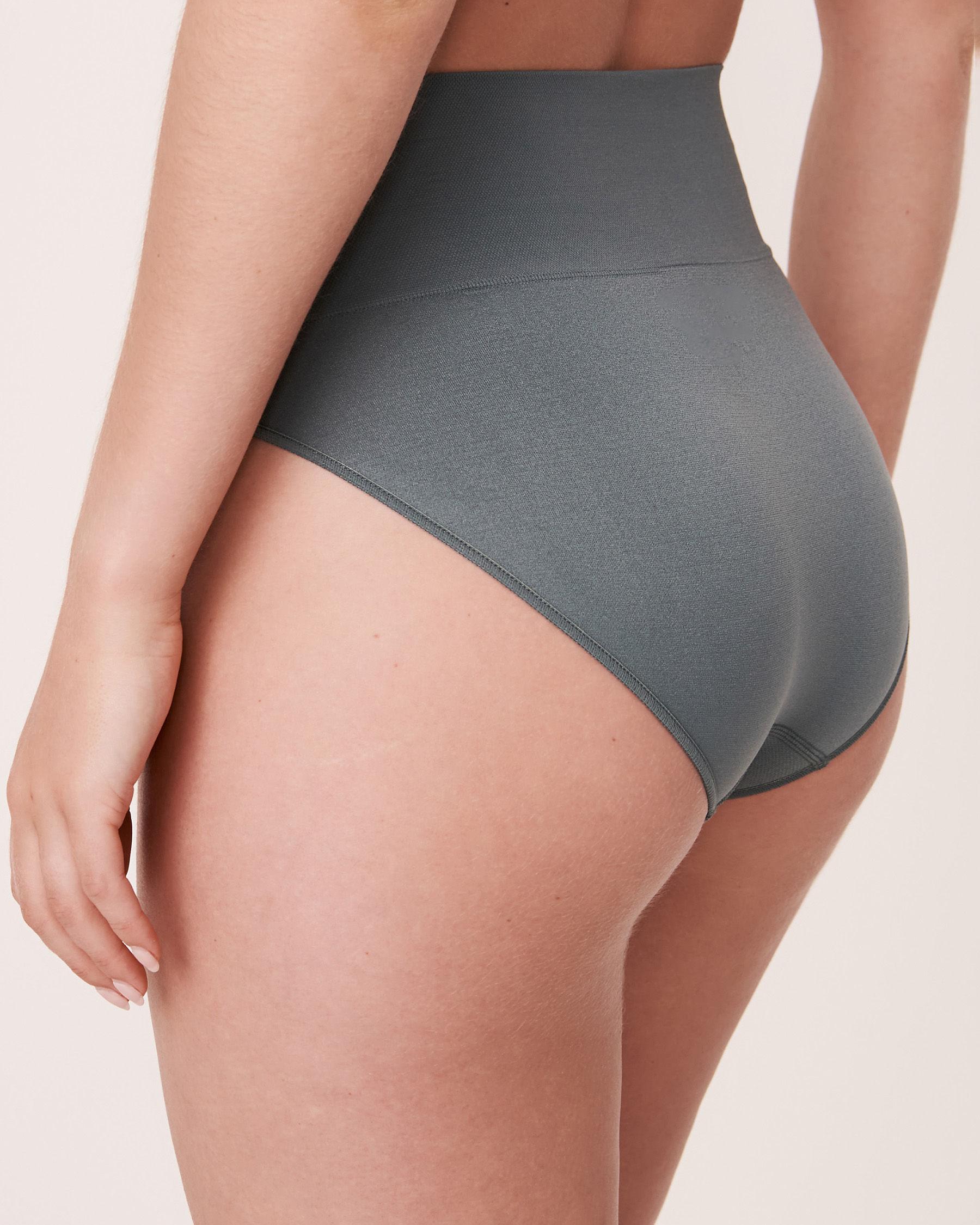 LA VIE EN ROSE Seamless High Waist Bikini Panty Green 20200038 - View2