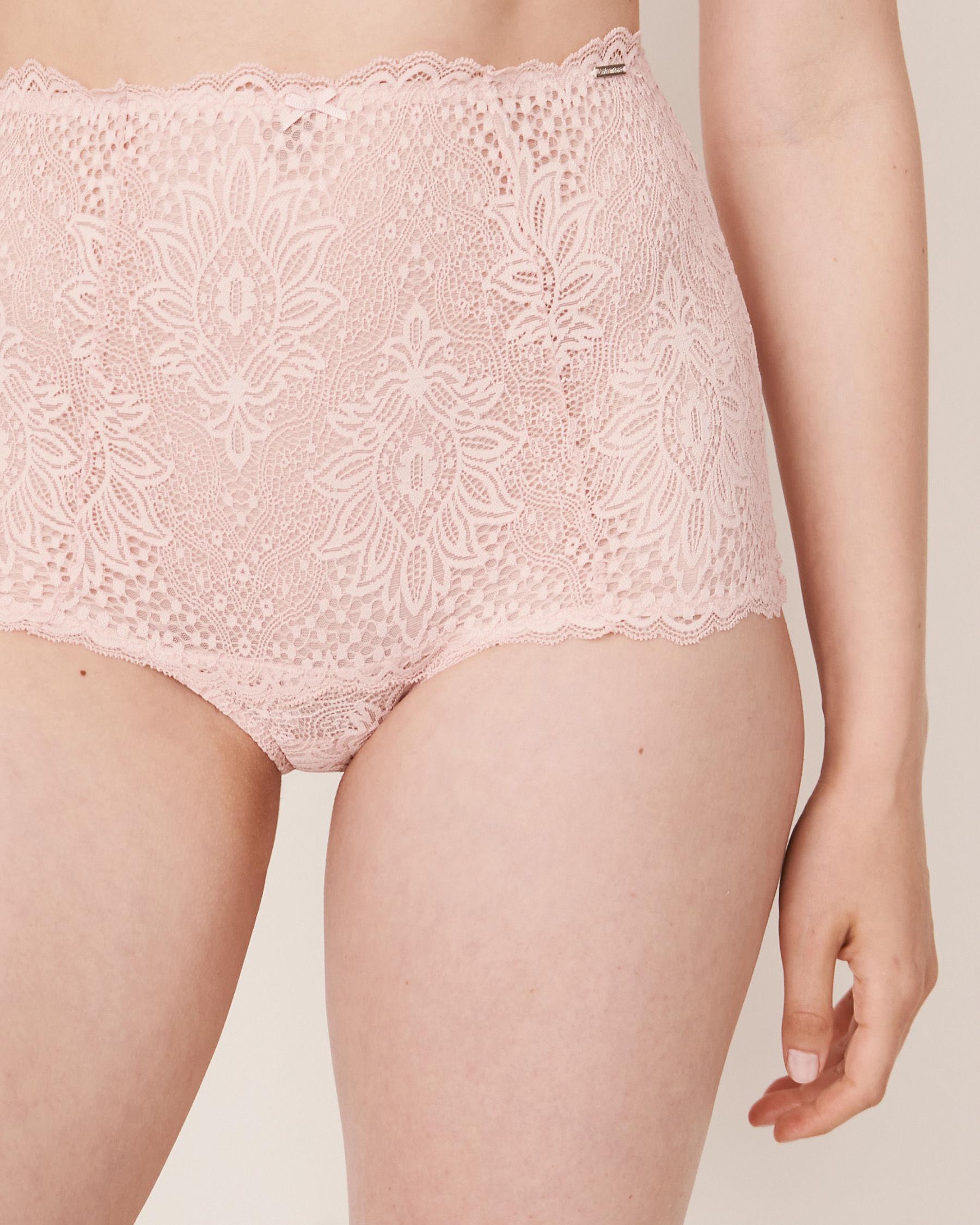 LA VIE EN ROSE Culotte bikini taille haute Rose pâle 20300044 - Voir1