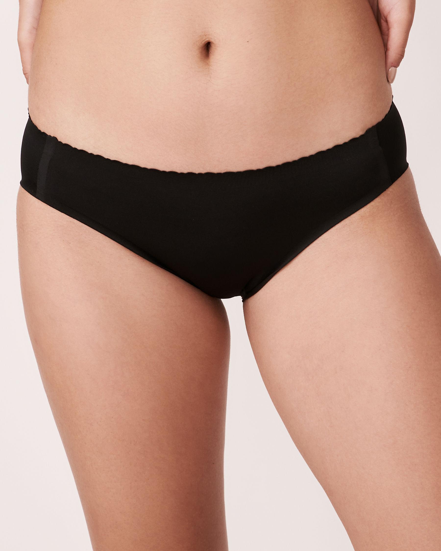 LA VIE EN ROSE Culotte bikini sans coutures Noir 712-122-0-00 - Voir1