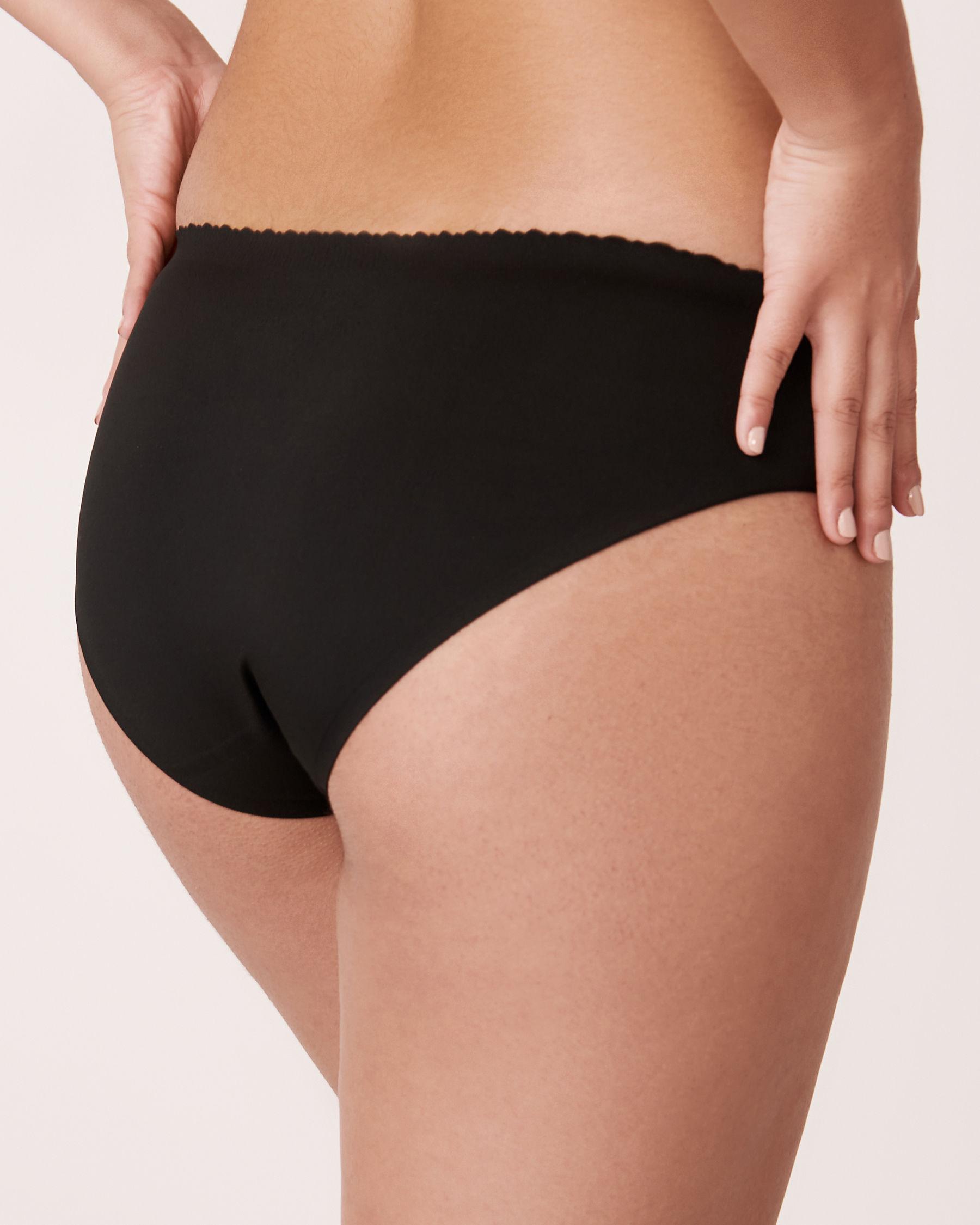 LA VIE EN ROSE Culotte bikini sans coutures Noir 712-122-0-00 - Voir2