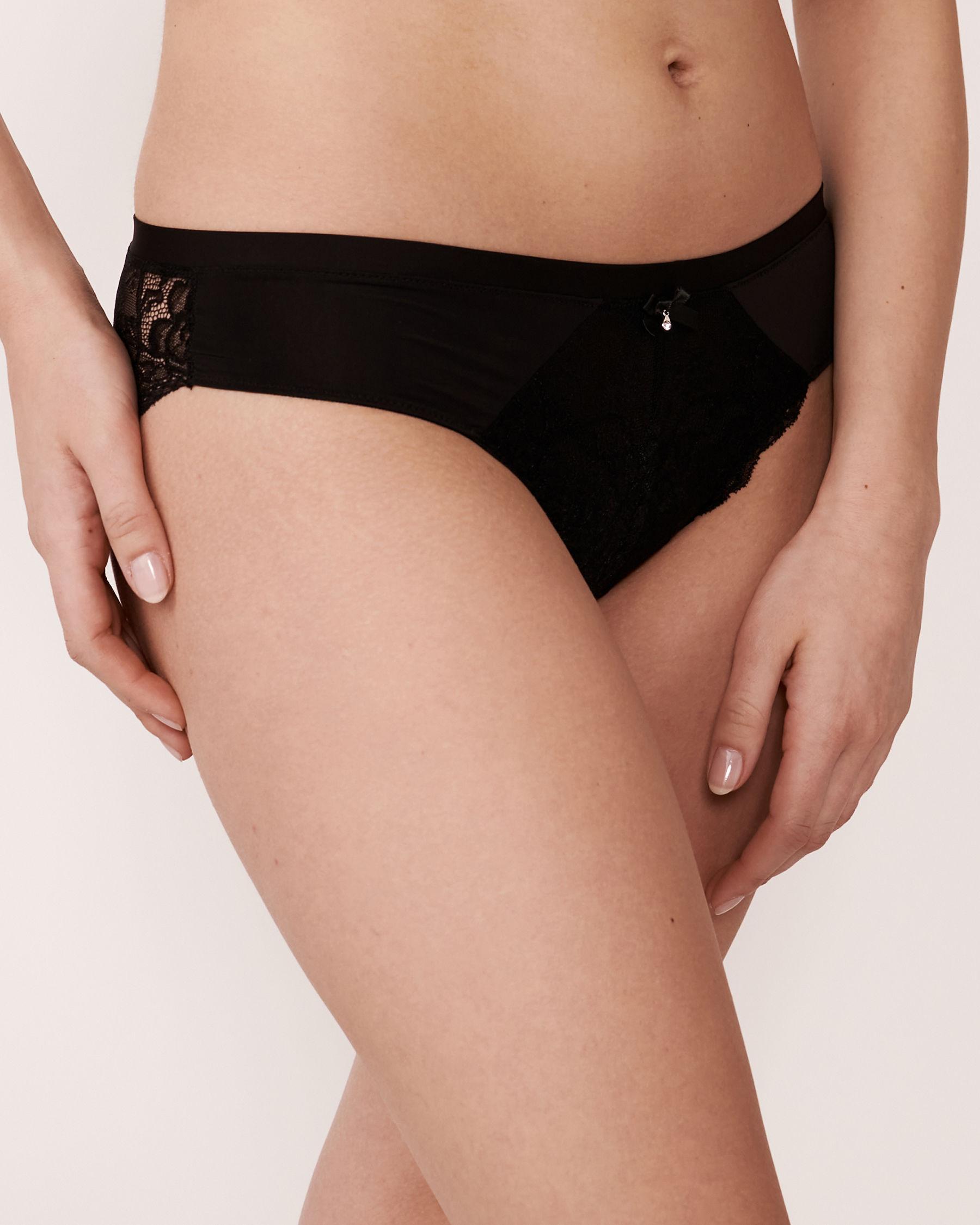 LA VIE EN ROSE Culotte bikini Noir 618-122-3-00 - Voir1