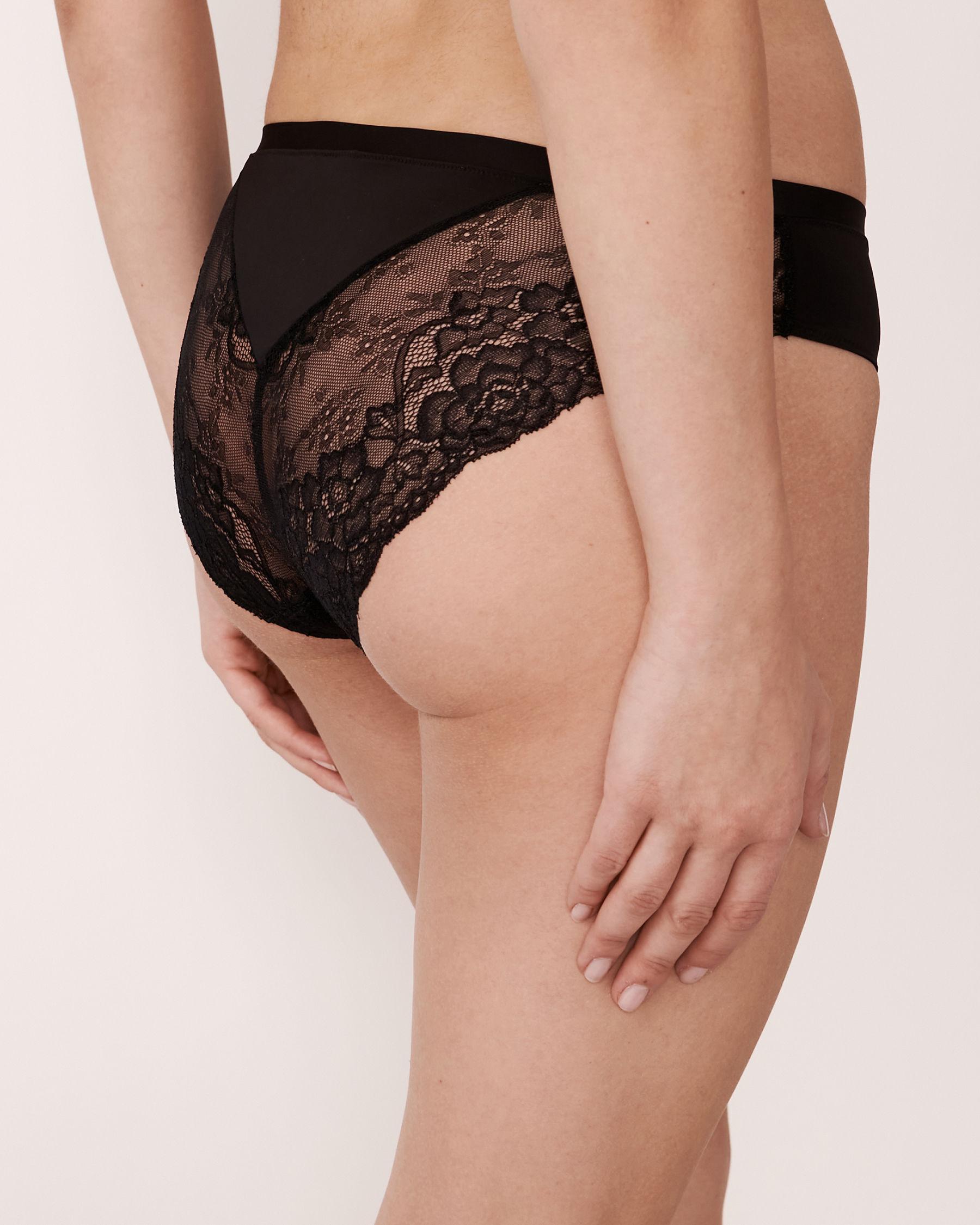 LA VIE EN ROSE Culotte bikini Noir 618-122-3-00 - Voir2