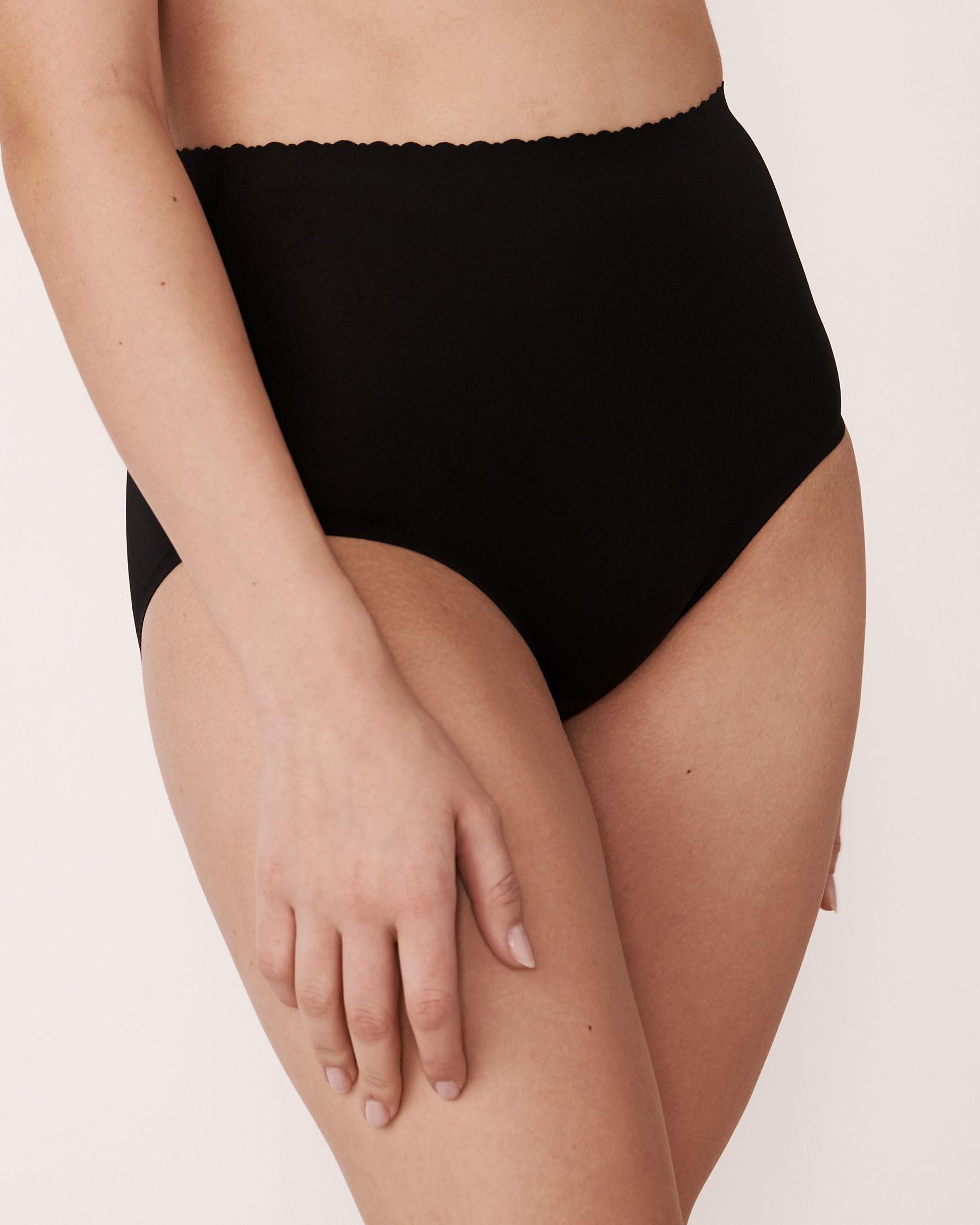 LA VIE EN ROSE Culotte bikini taille haute sans coutures Noir 712-122-1-00 - Voir1