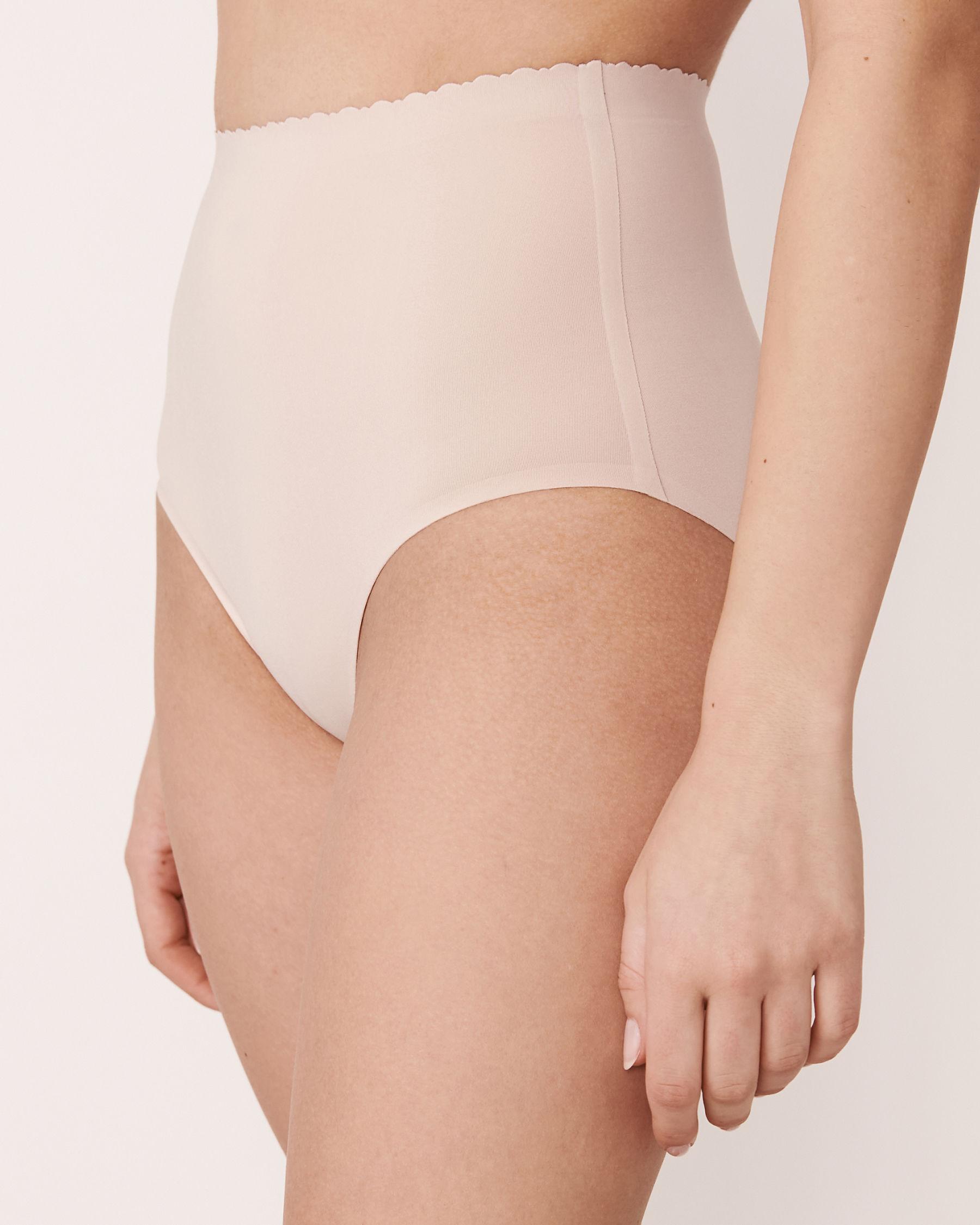 LA VIE EN ROSE Culotte bikini taille haute sans coutures Neutre 712-122-1-00 - Voir1