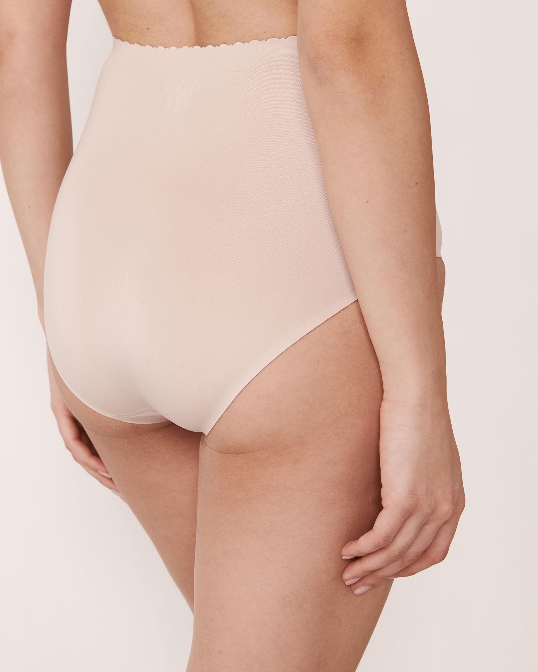 LA VIE EN ROSE Culotte bikini taille haute sans coutures Neutre 712-122-1-00 - Voir2