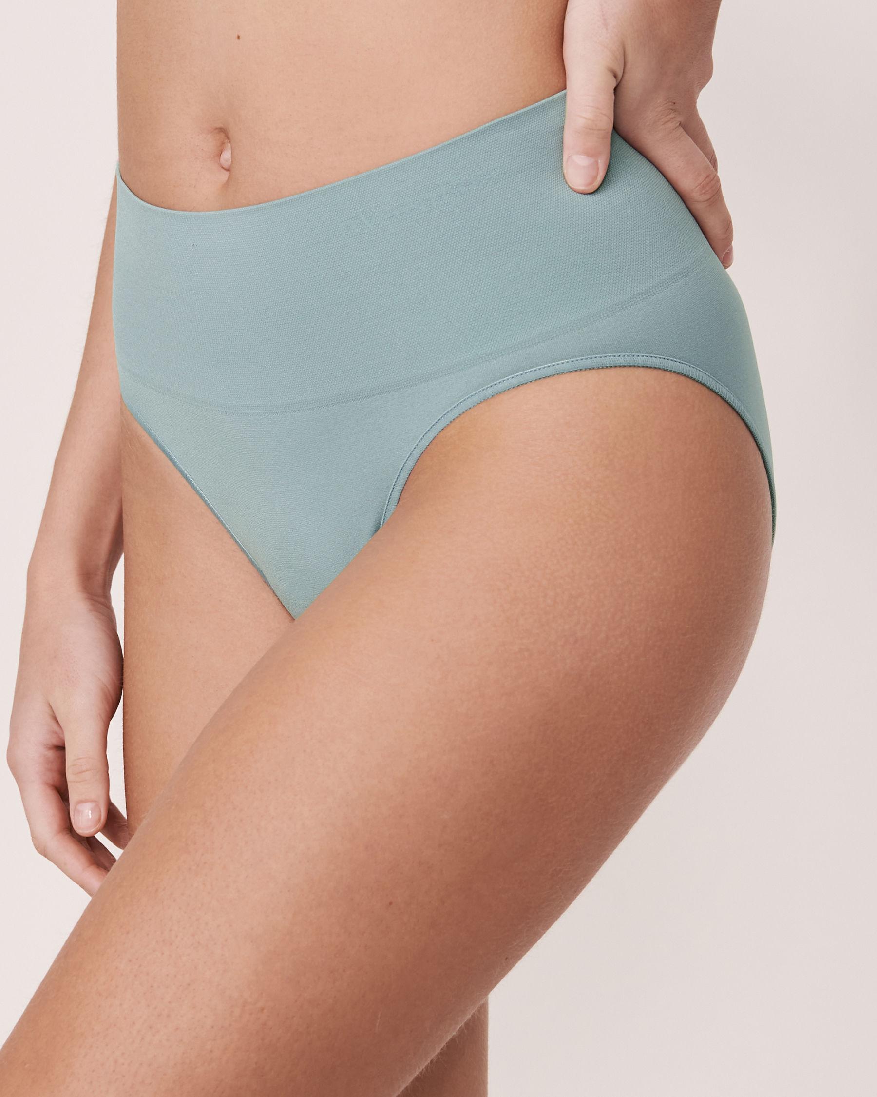 LA VIE EN ROSE Seamless High Waist Bikini Panty Blue grey 20200027 - View1