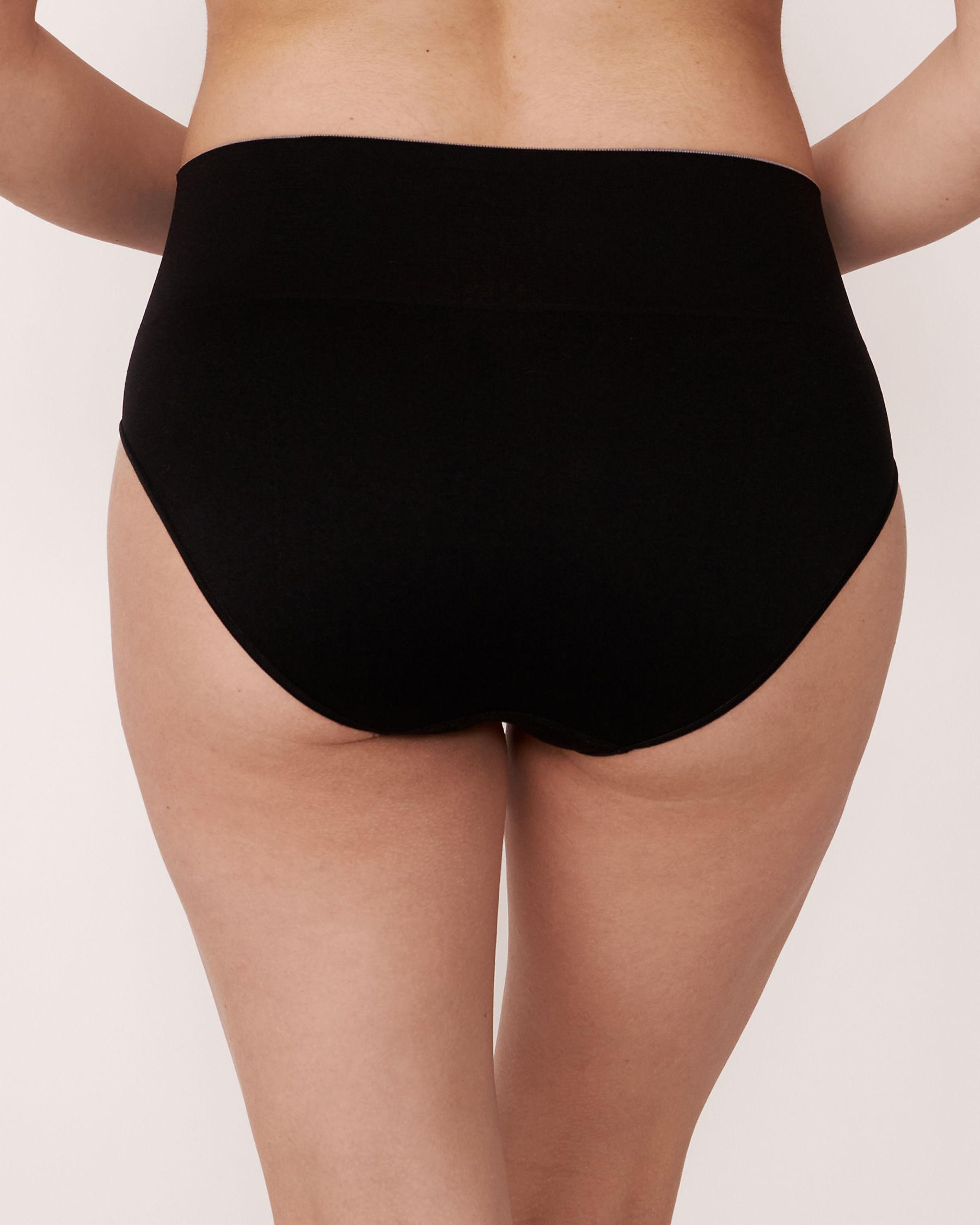 LA VIE EN ROSE Seamless High Waist Bikini Panty Black 889-222-1-00 - View2