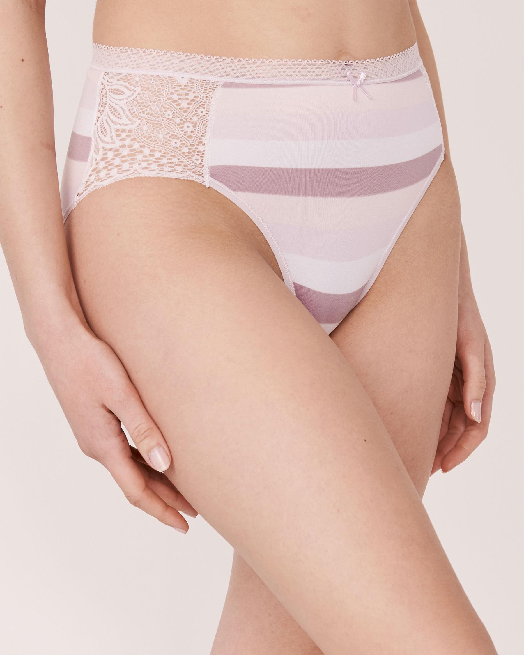 LA VIE EN ROSE High Waist Bikini Panty Wide stripes 20100023 - View1