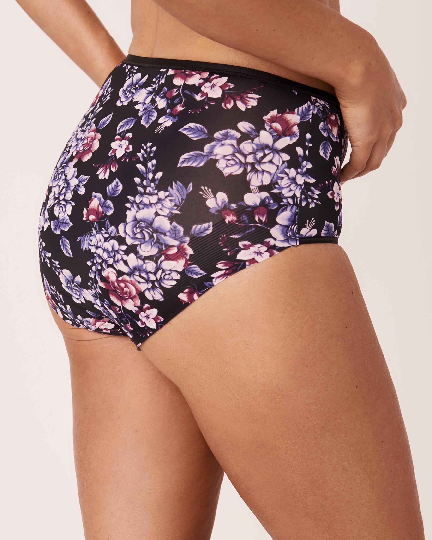 LA VIE EN ROSE High Waist Bikini Panty Watercolor florals 20300049 - View5
