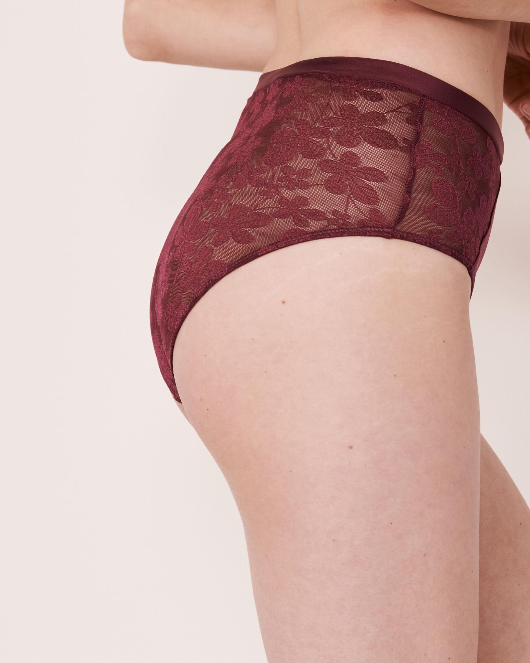 LA VIE EN ROSE High Waist Bikini Panty Prune 20300060 - View2