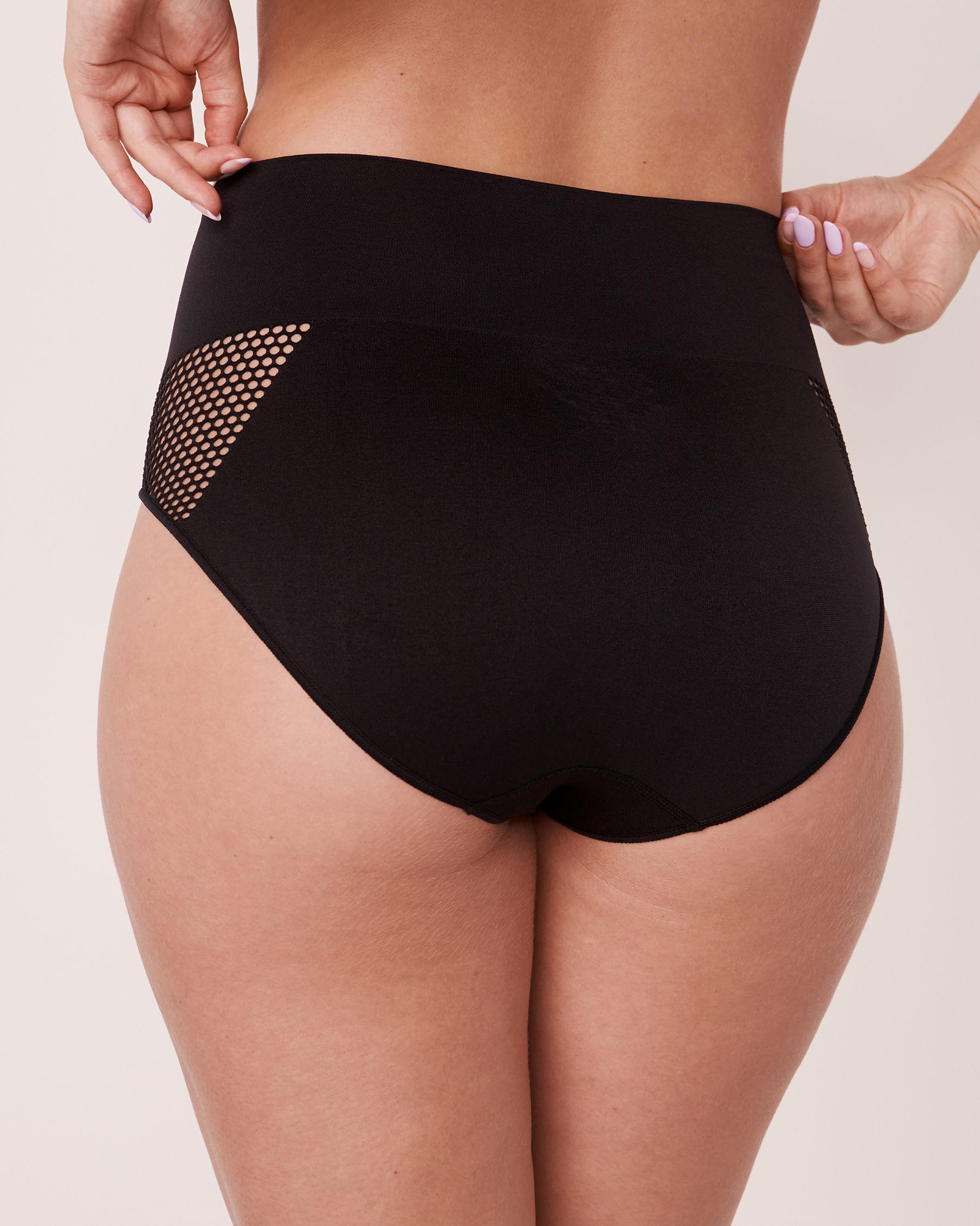 LA VIE EN ROSE Seamless High Waist Bikini Panty Black 20200085 - View2