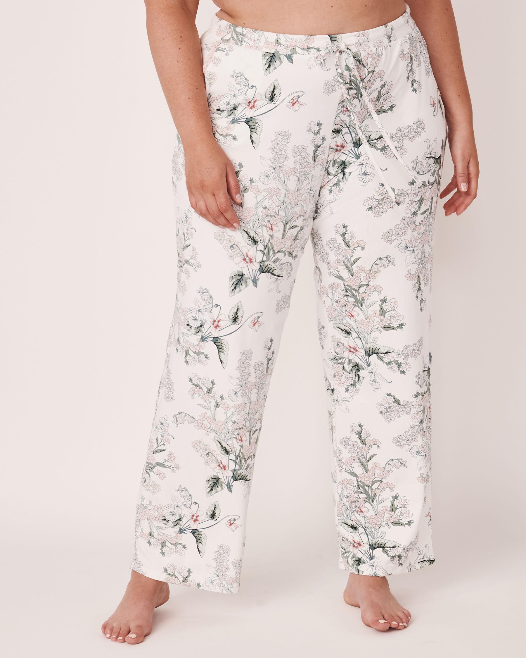LA VIE EN ROSE Wide Leg Pant Flower bouquet 40200073 - View1