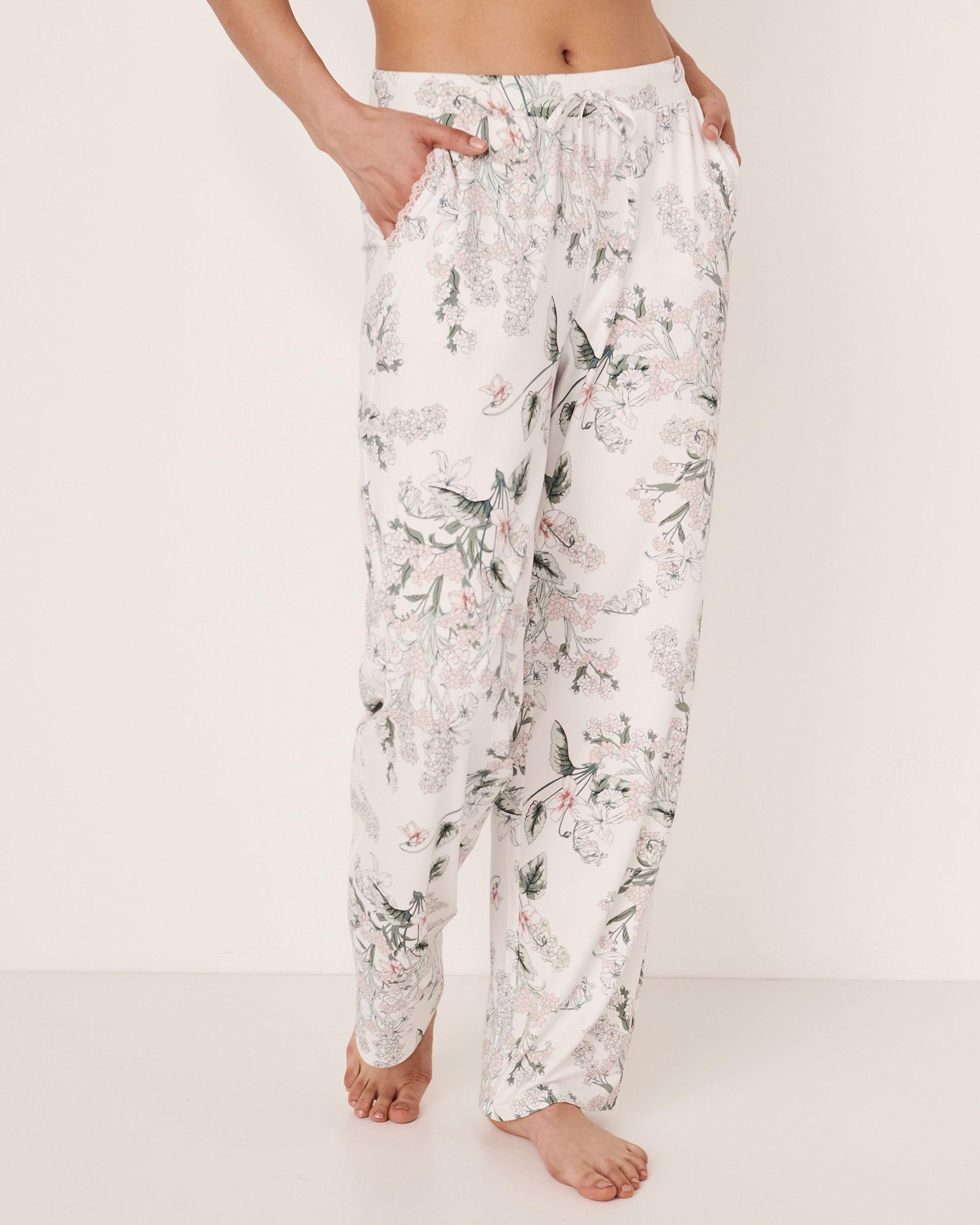 LA VIE EN ROSE Wide Leg Pant Flower bouquet 40200073 - View3