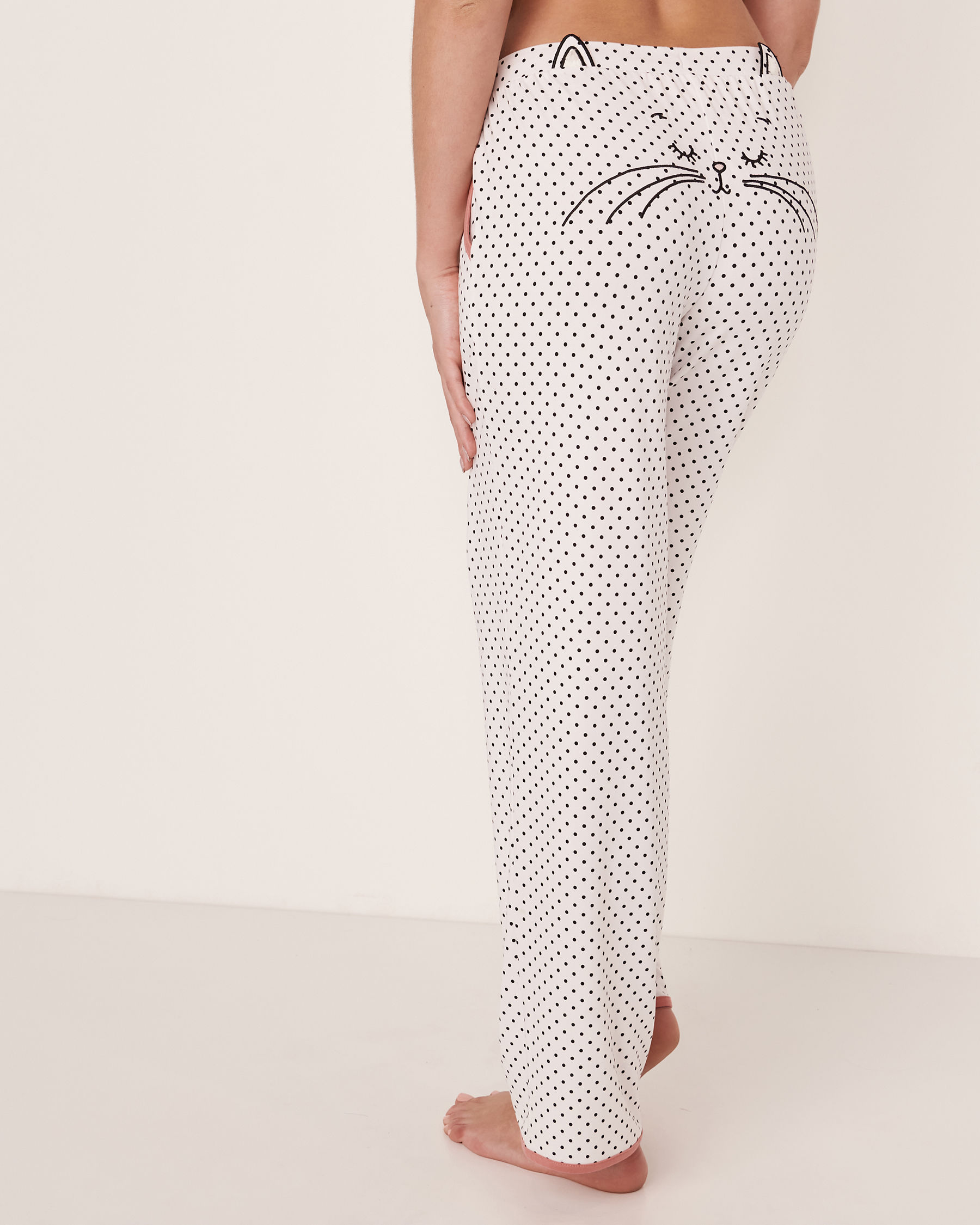LA VIE EN ROSE 3D Cat Pyjama Pant Black dot 40200083 - View4