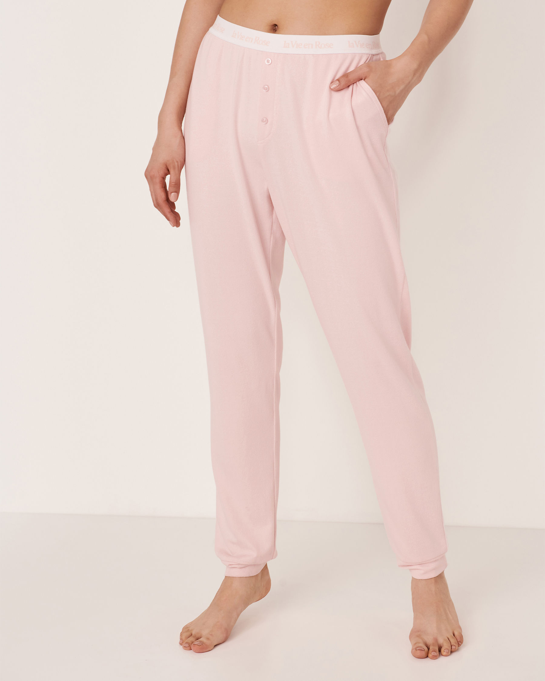LA VIE EN ROSE Recycled Fibers Pyjama Pant Light pink 40200088 - View1