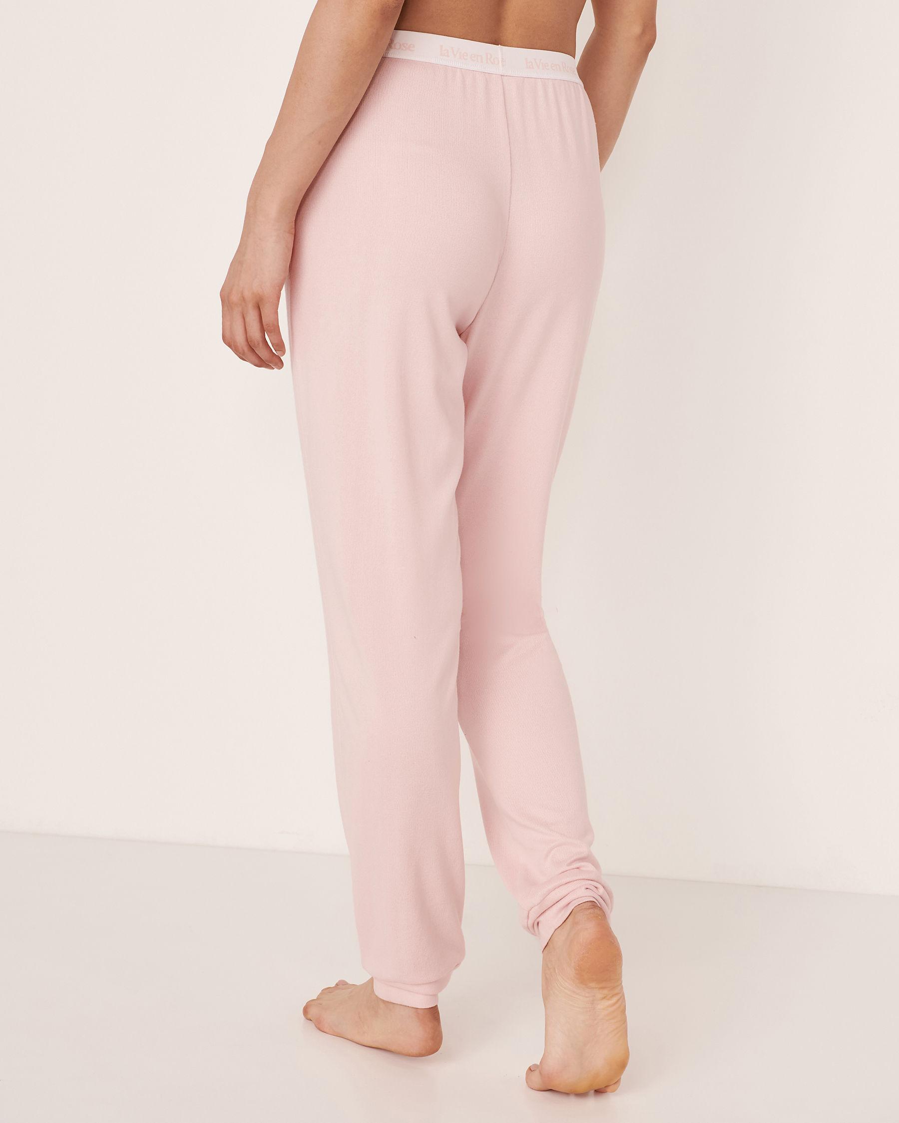 LA VIE EN ROSE Recycled Fibers Pyjama Pant Light pink 40200088 - View2
