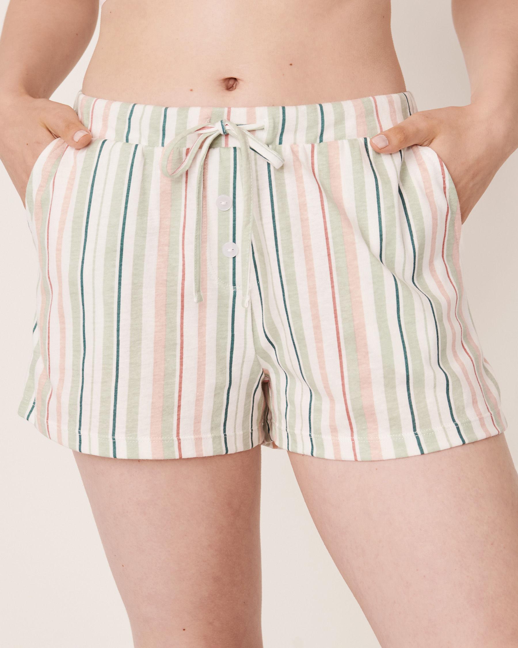 LA VIE EN ROSE Pyjama Short with Pockets Multi stripes 40200090 - View1