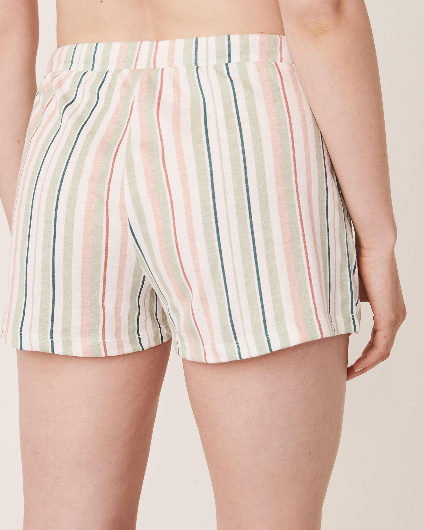 LA VIE EN ROSE Pyjama Short with Pockets Multi stripes 40200090 - View2