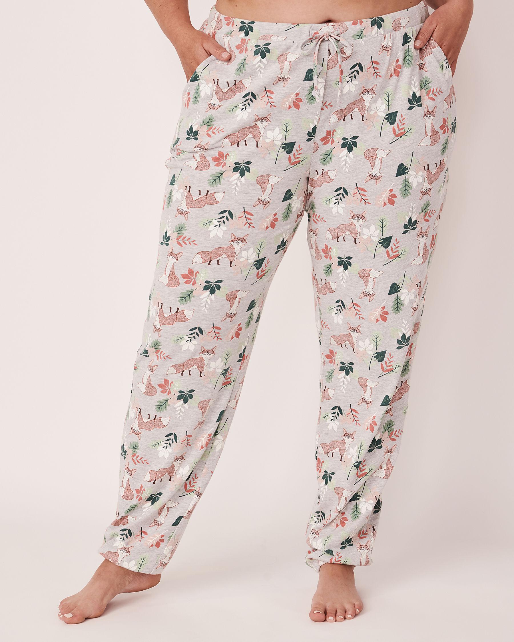 LA VIE EN ROSE Fitted Pyjama Pant Fox print 40200094 - View1